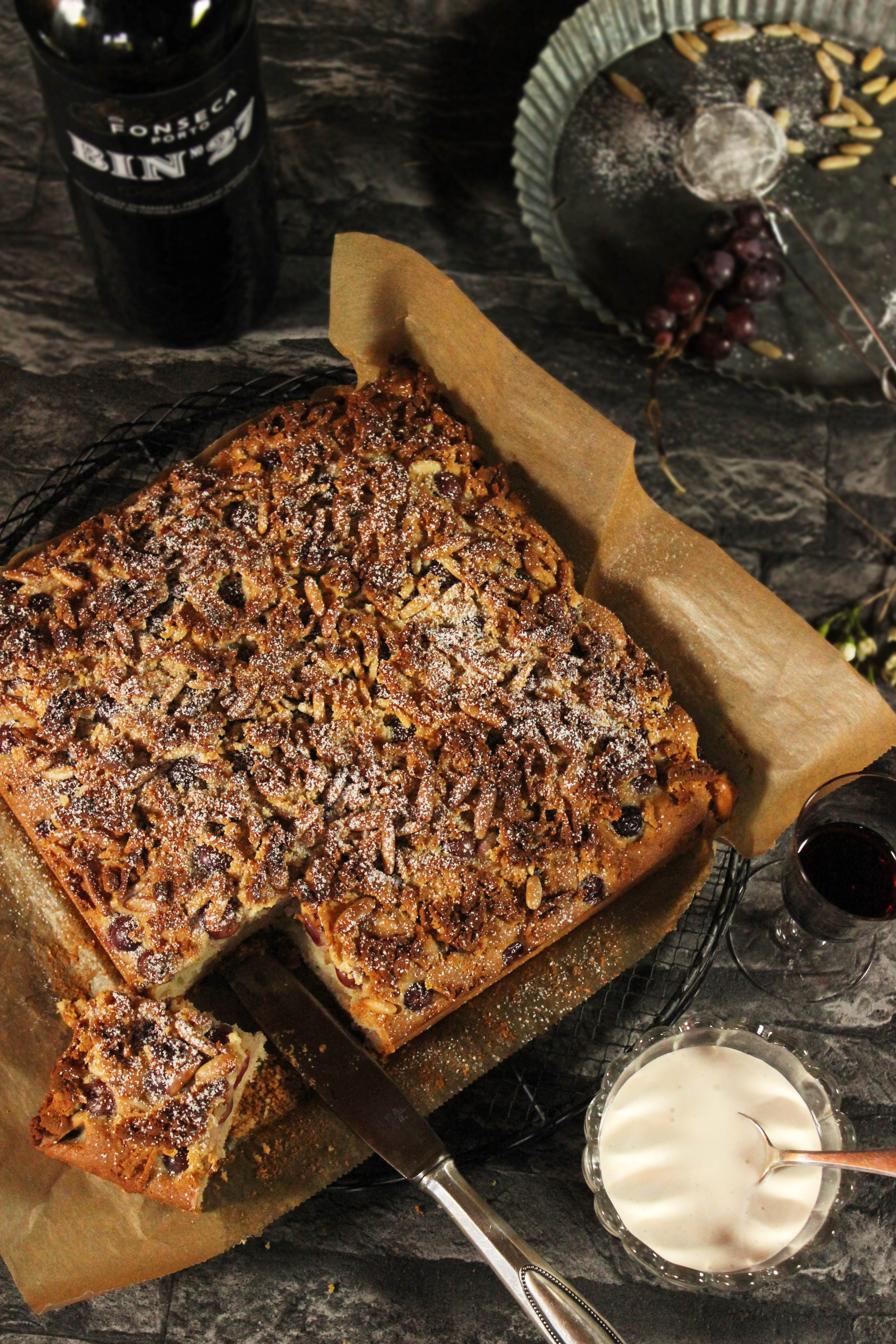 Trauben-Mandelkuchen