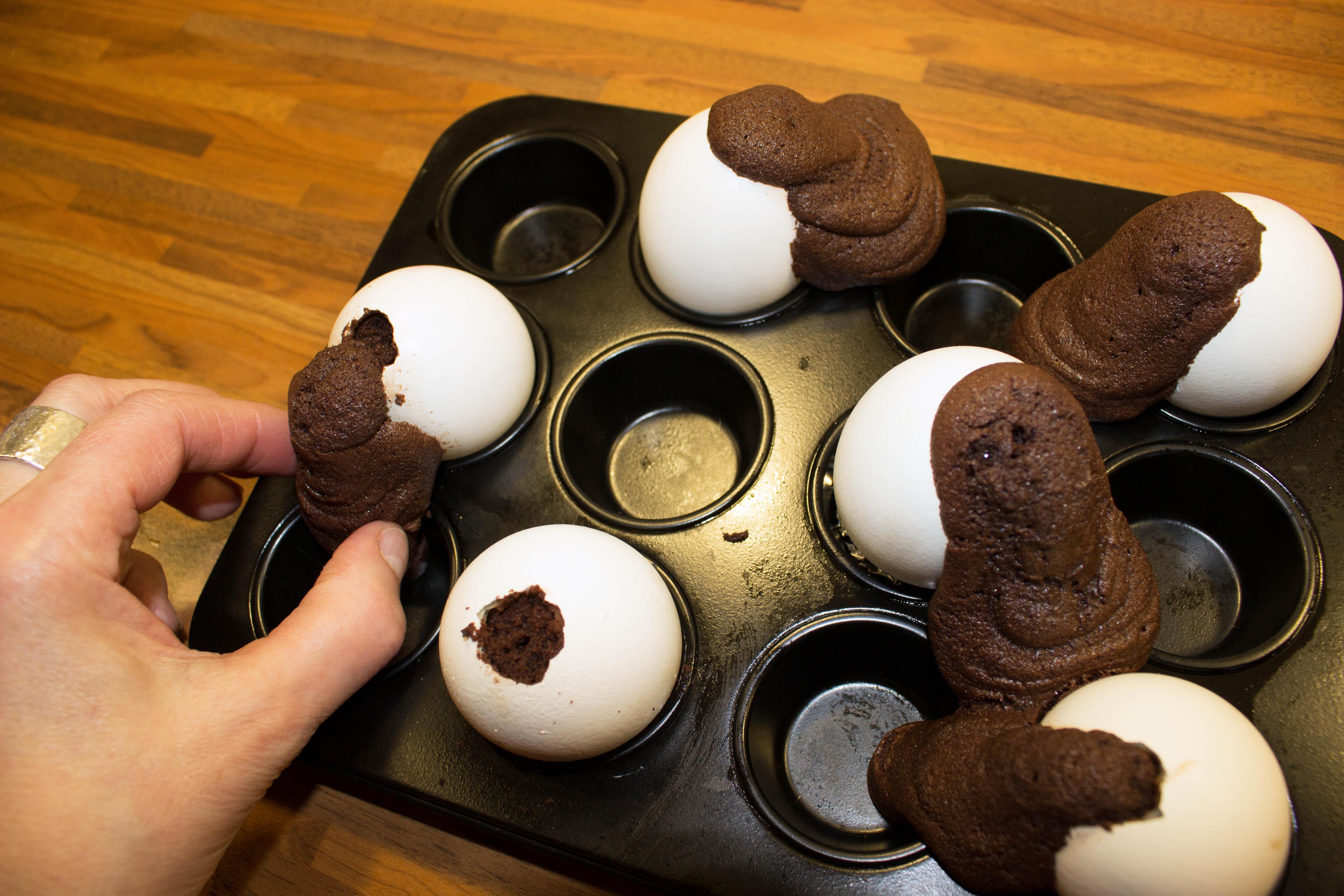 Huch Ein Huhn Dass Kucheneier Legt Brownie Ostereier Die