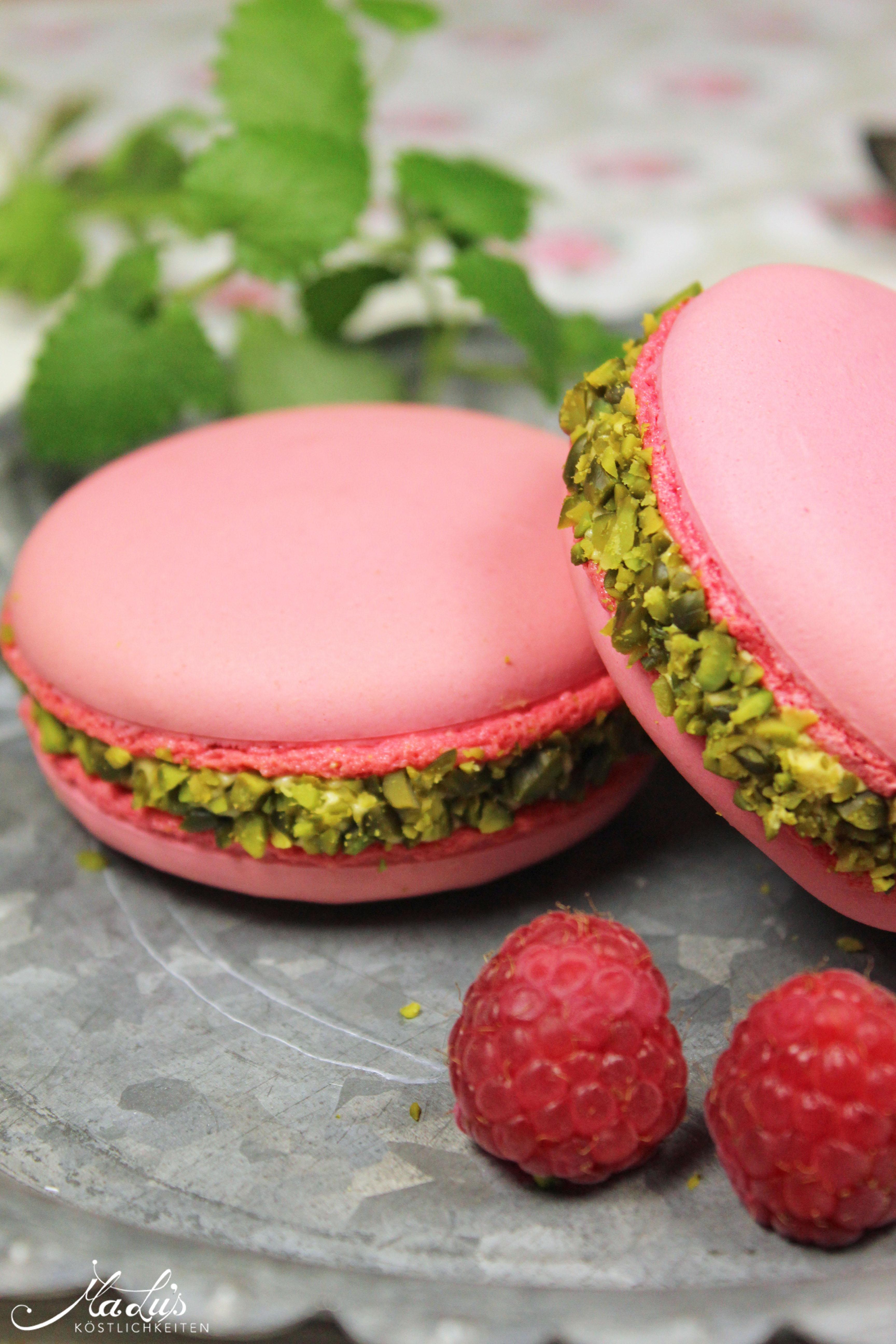 Himbeer-Pistazien Macarons