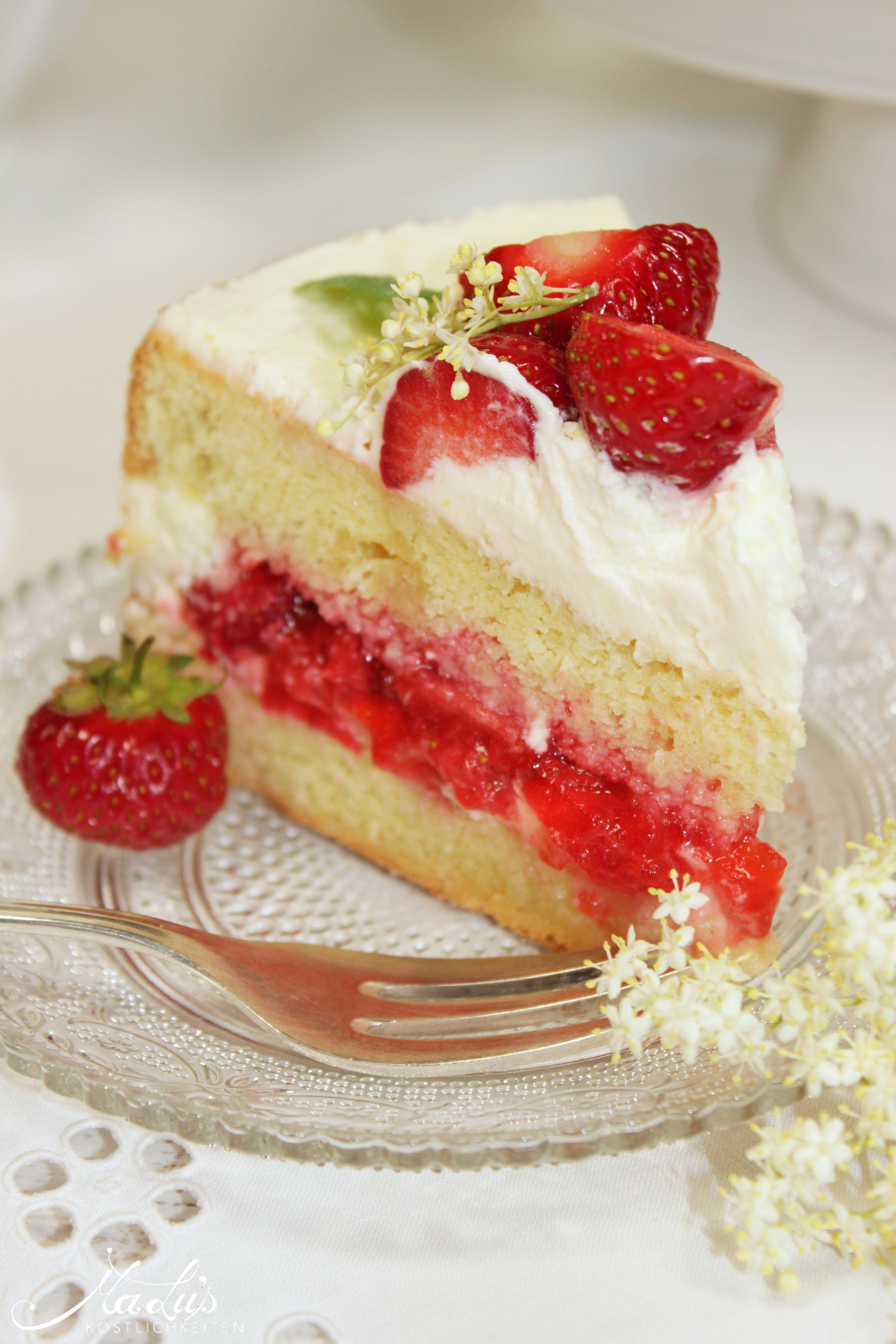 Erdbeer-Holunder Torte