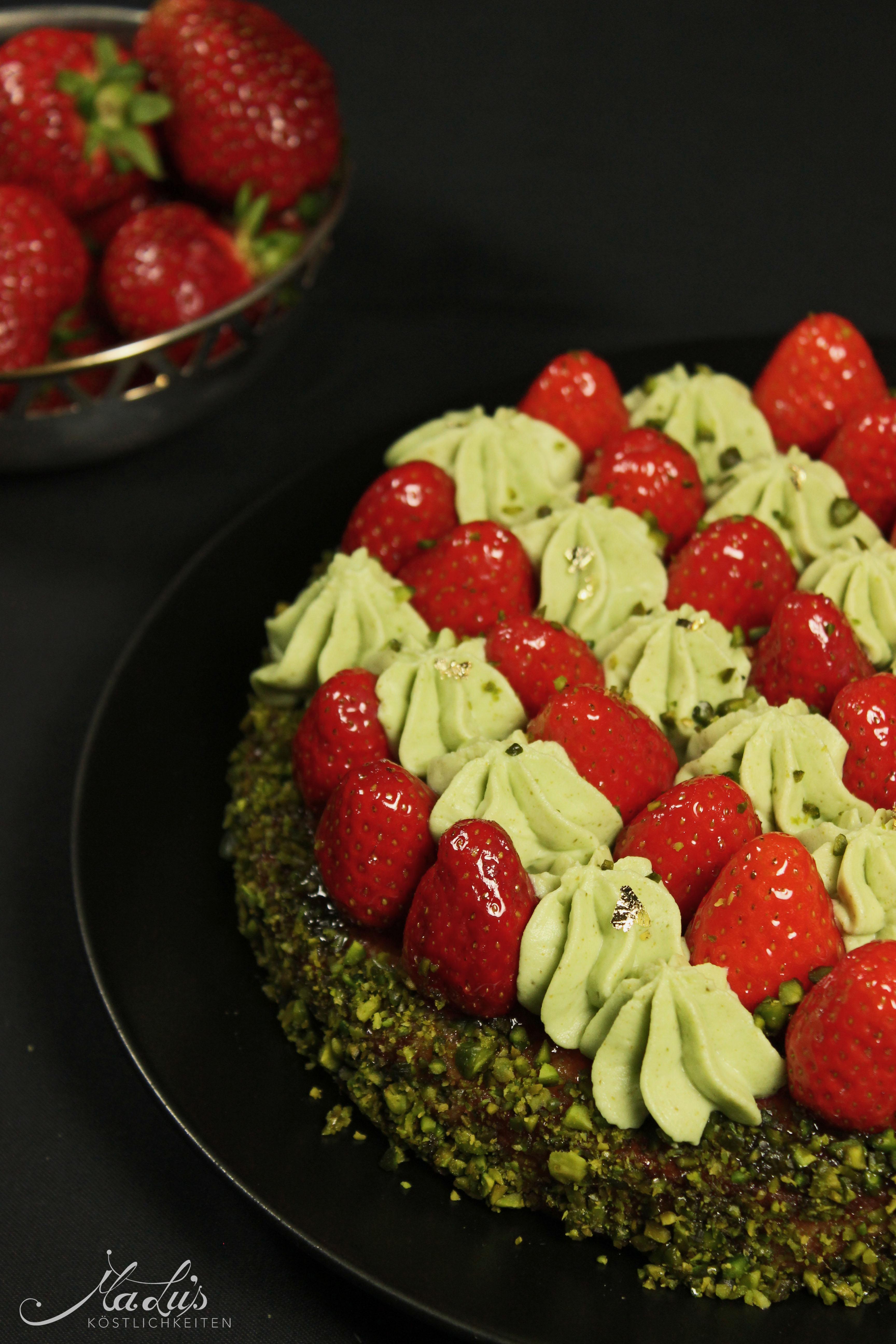 Erdbeer-Pistazien Tarte
