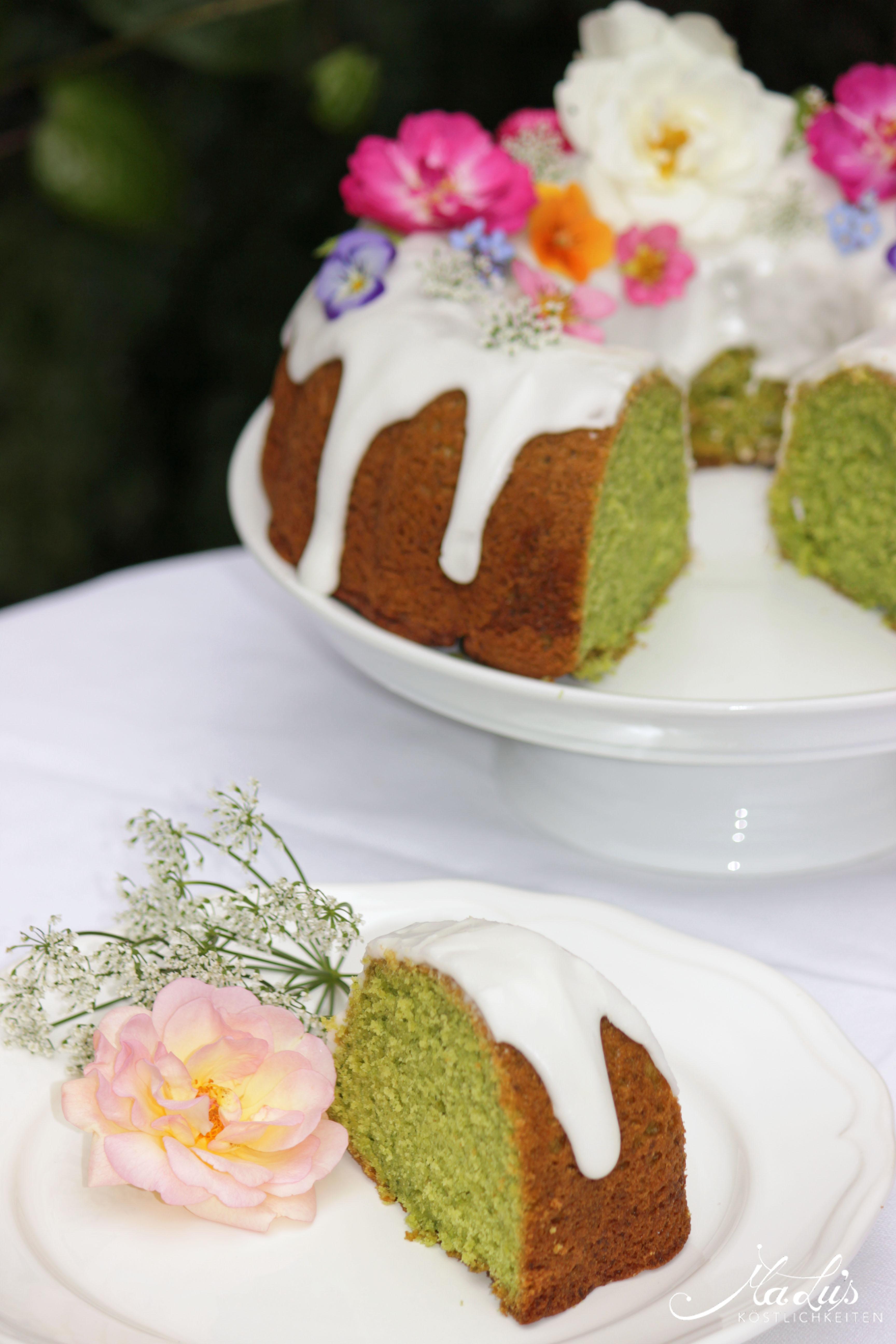 Spinatgrüner Limettenkuchen