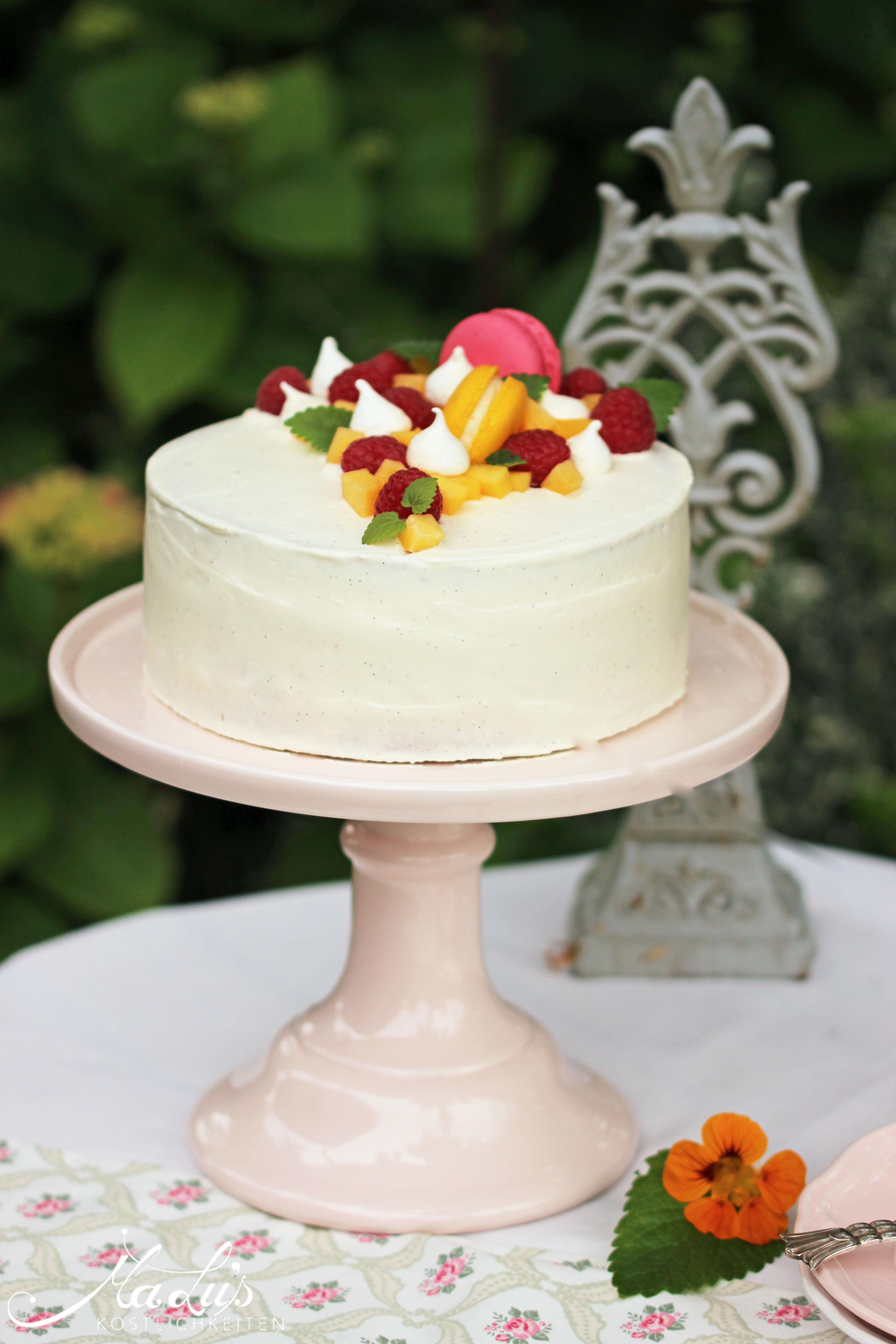 Peach Melba Torte // Maren Lubbe