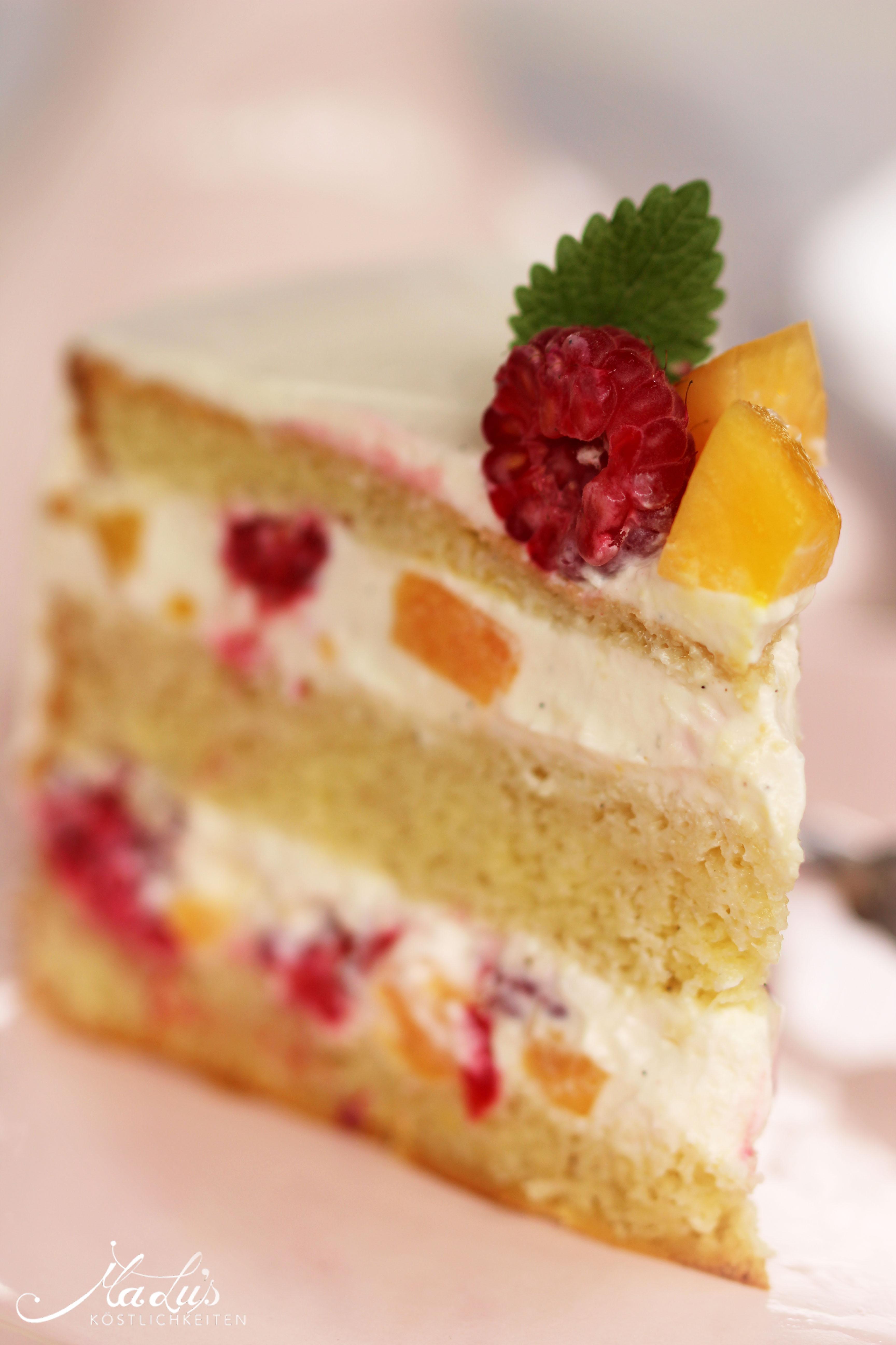Peach Melba Torte by Maren Lubbe