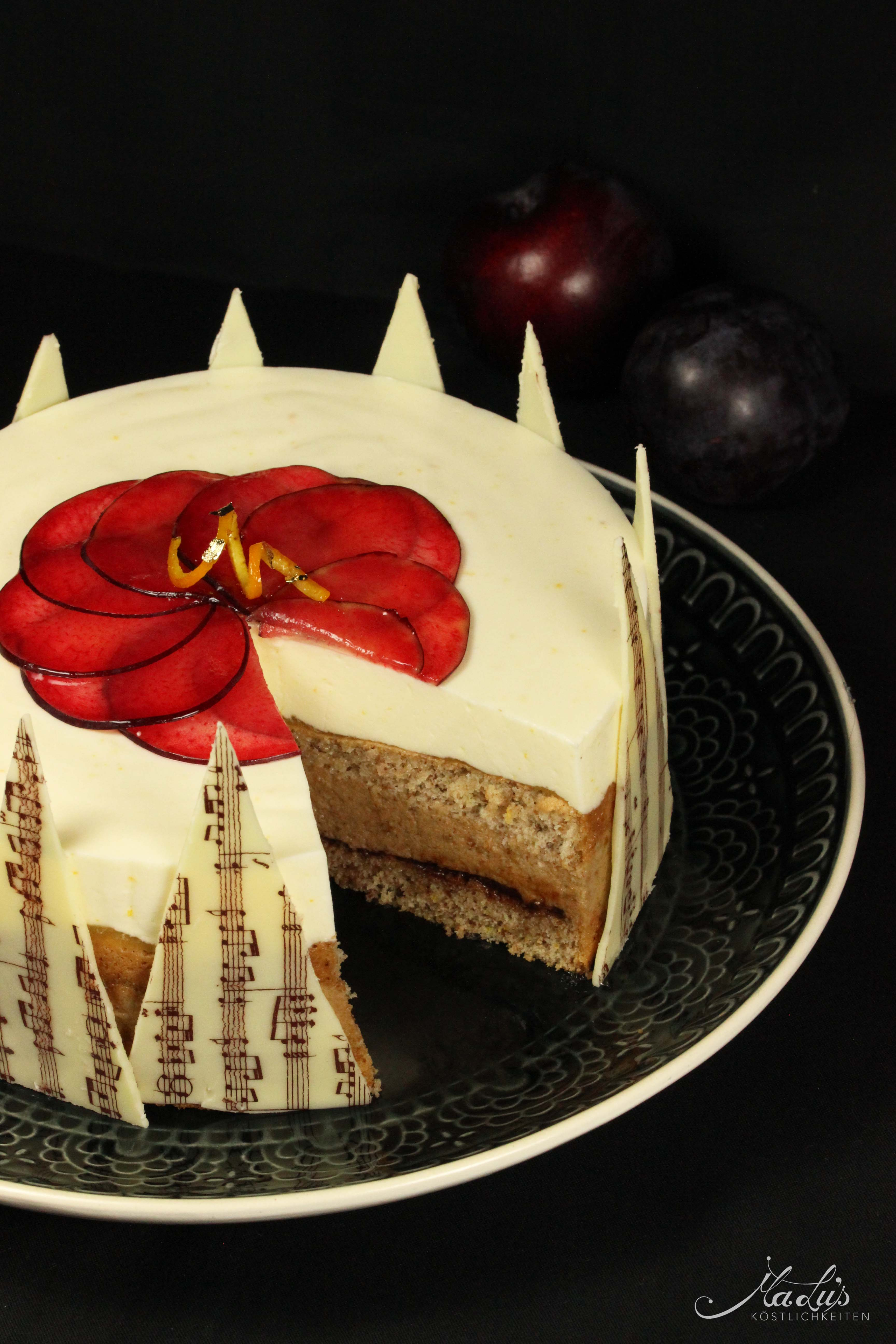 Pflaumen-Orangen Torte