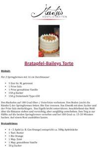 Rezeptdruck Bratapfel-Baileys Torte