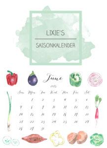Lixie´s Saisomkalender