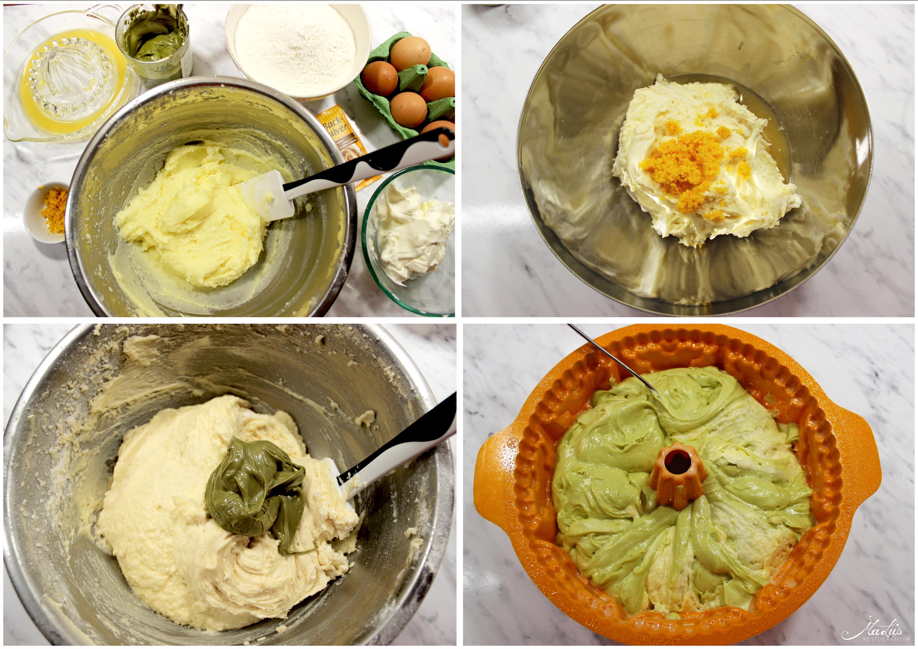 Pistazien-Orangen Marmorkuchen