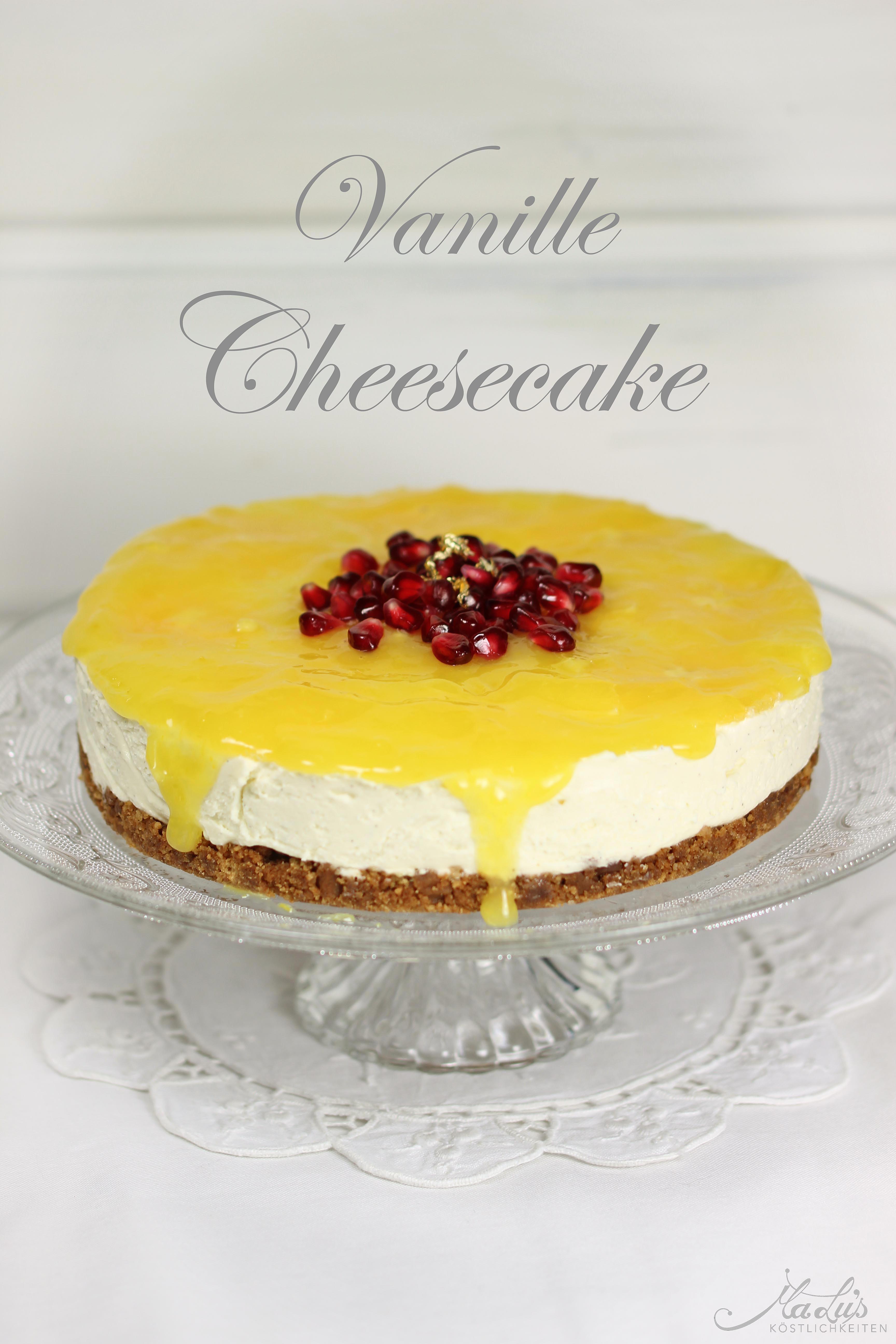 Vanille Cheesecake mit Orangen