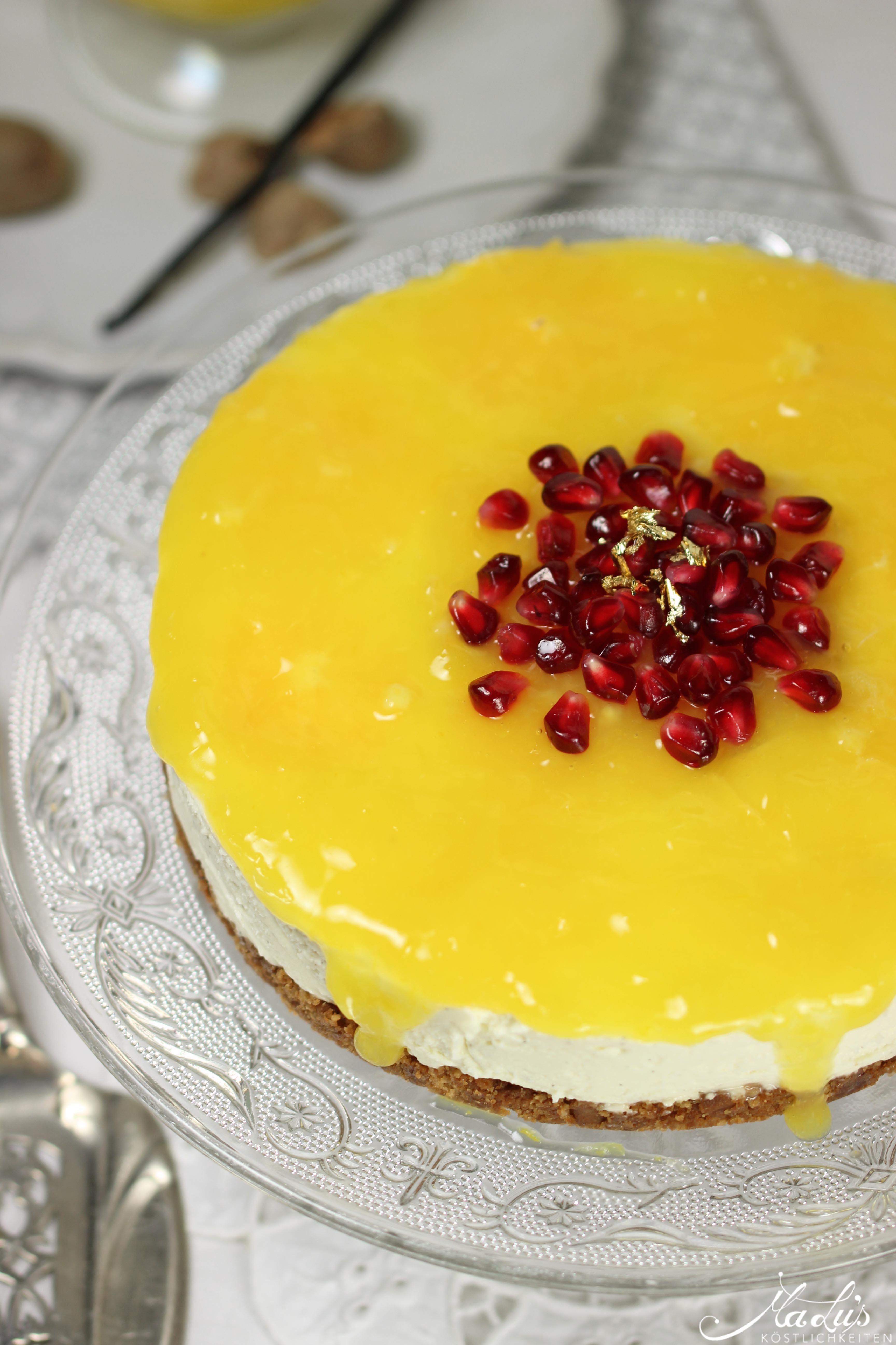 Vanille Cheesecake mit Orangen 42