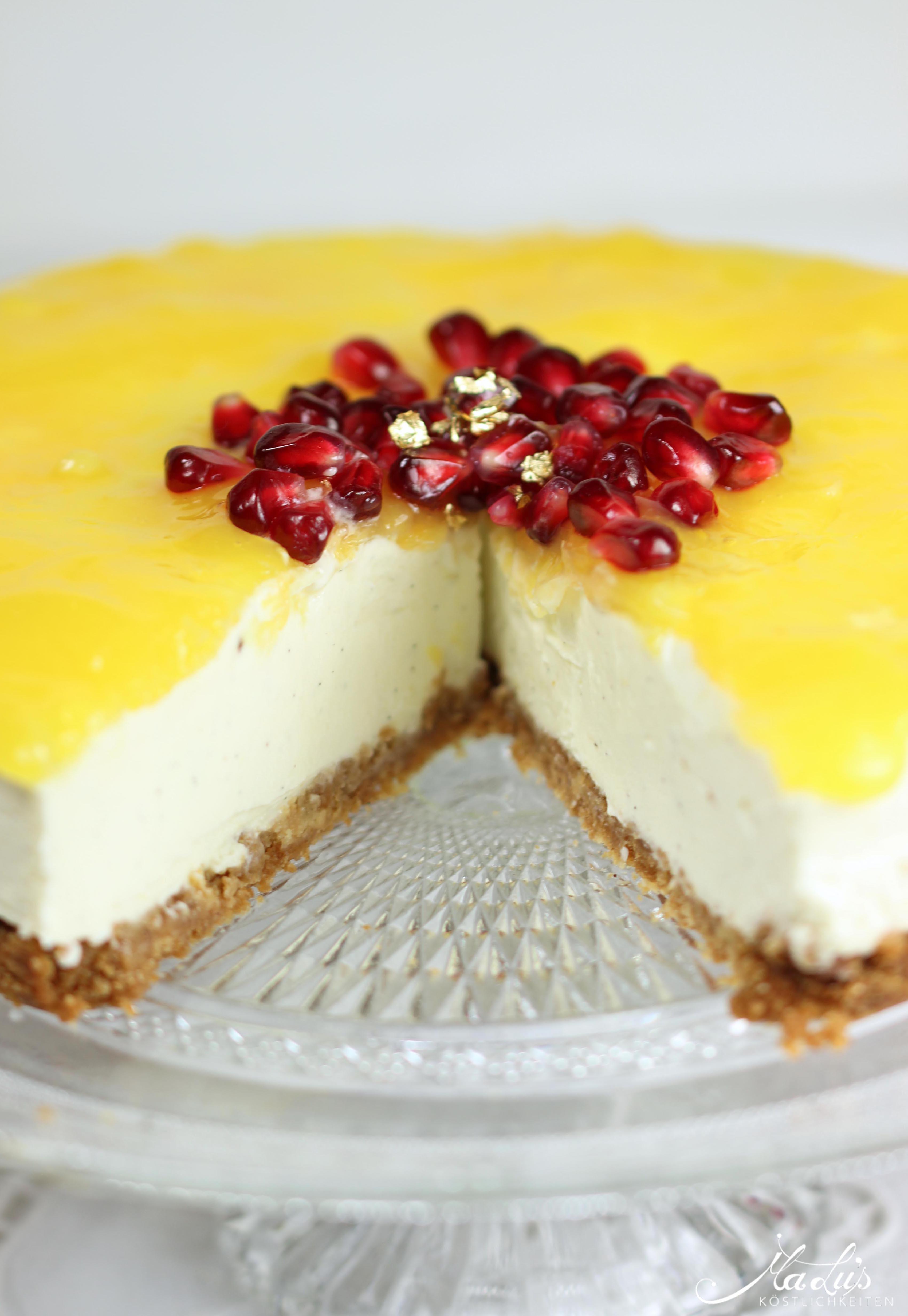 Vanille Cheesecake mit Orangen 44a