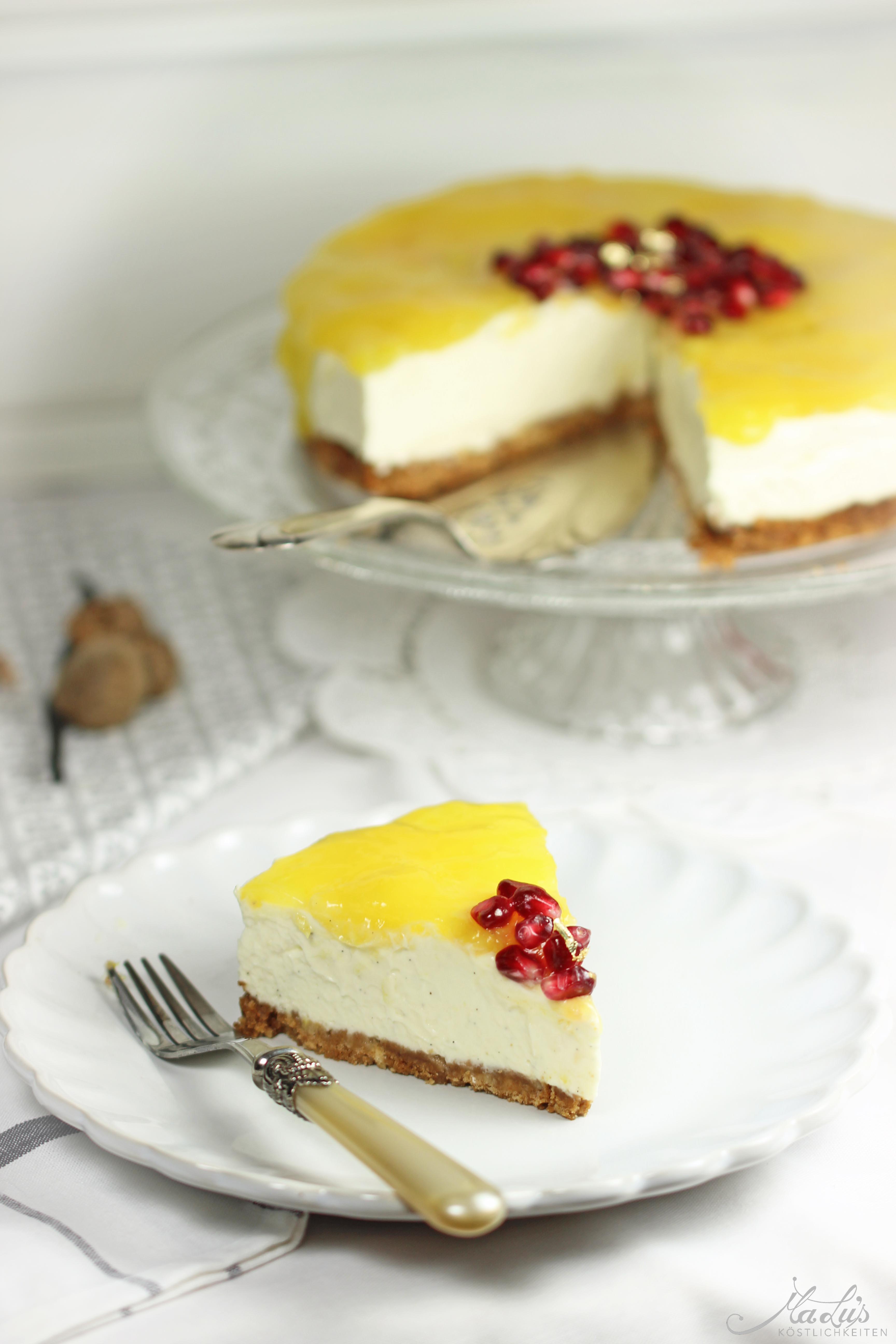 Vanille Cheesecake mit Orangen 53