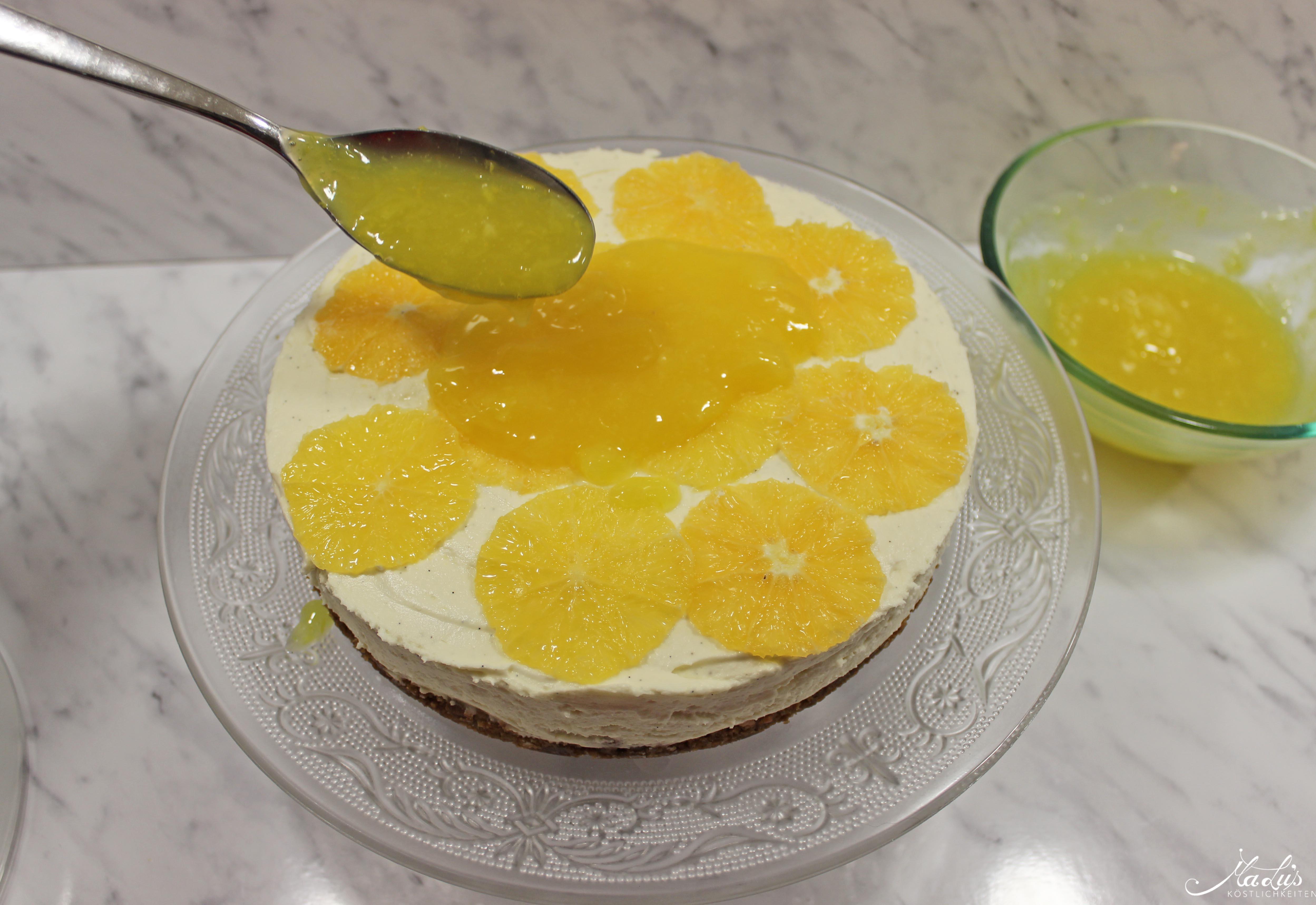 Vanille Cheesecake mit Orangen 6