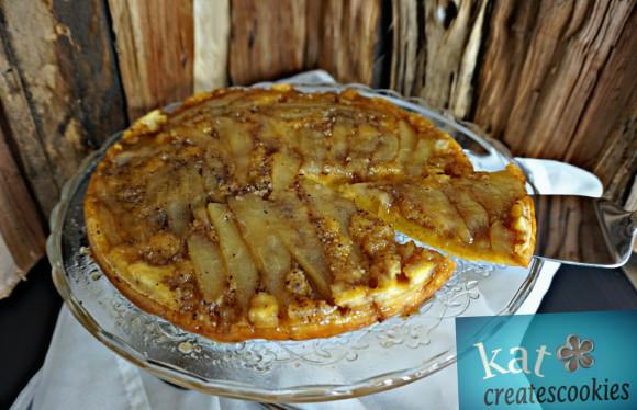 Upsidedown-Birnenkuchen mit Grünkohl - Katcreatescookies