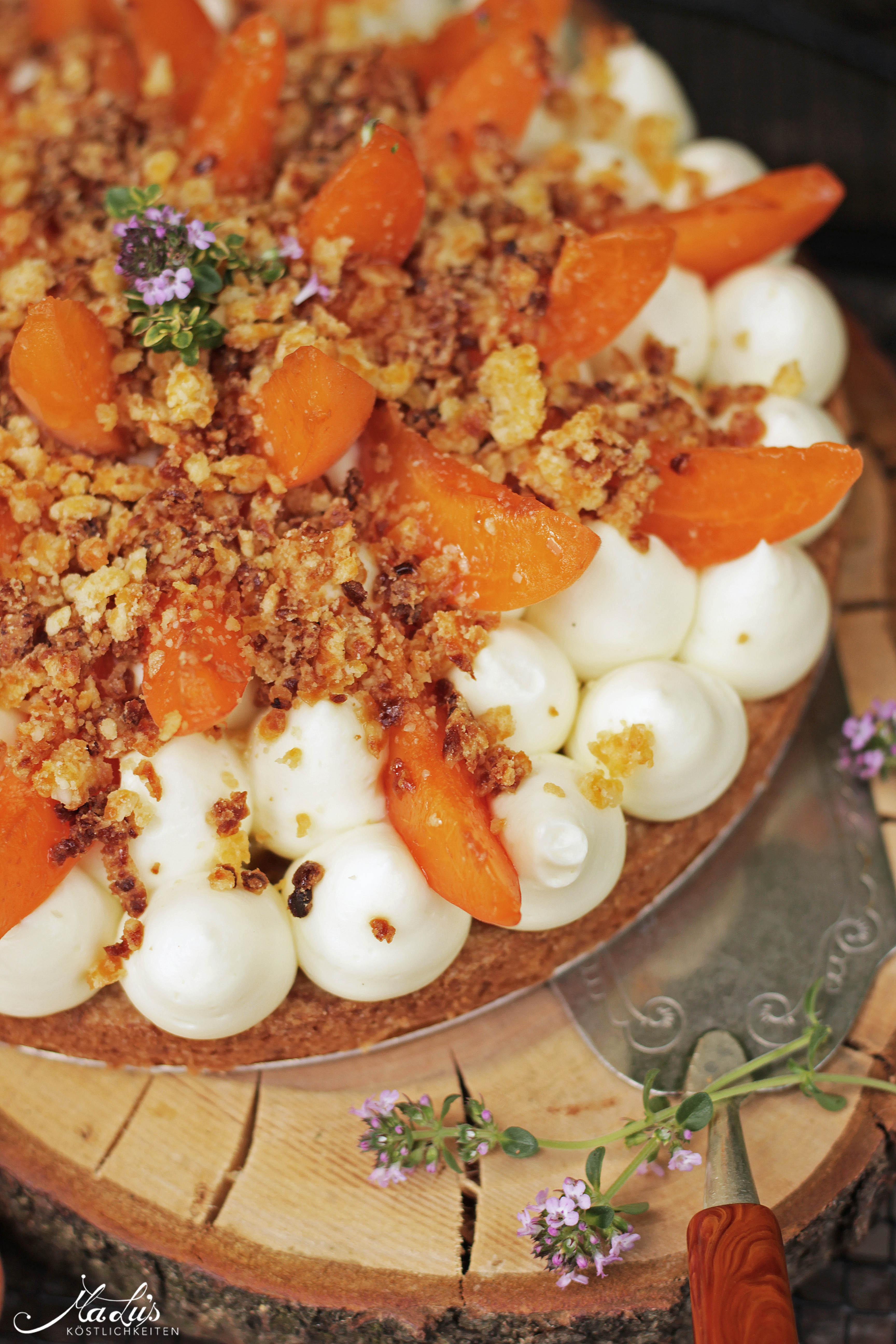Aprikosen Knuspertarte mit Zitronenthymian 6
