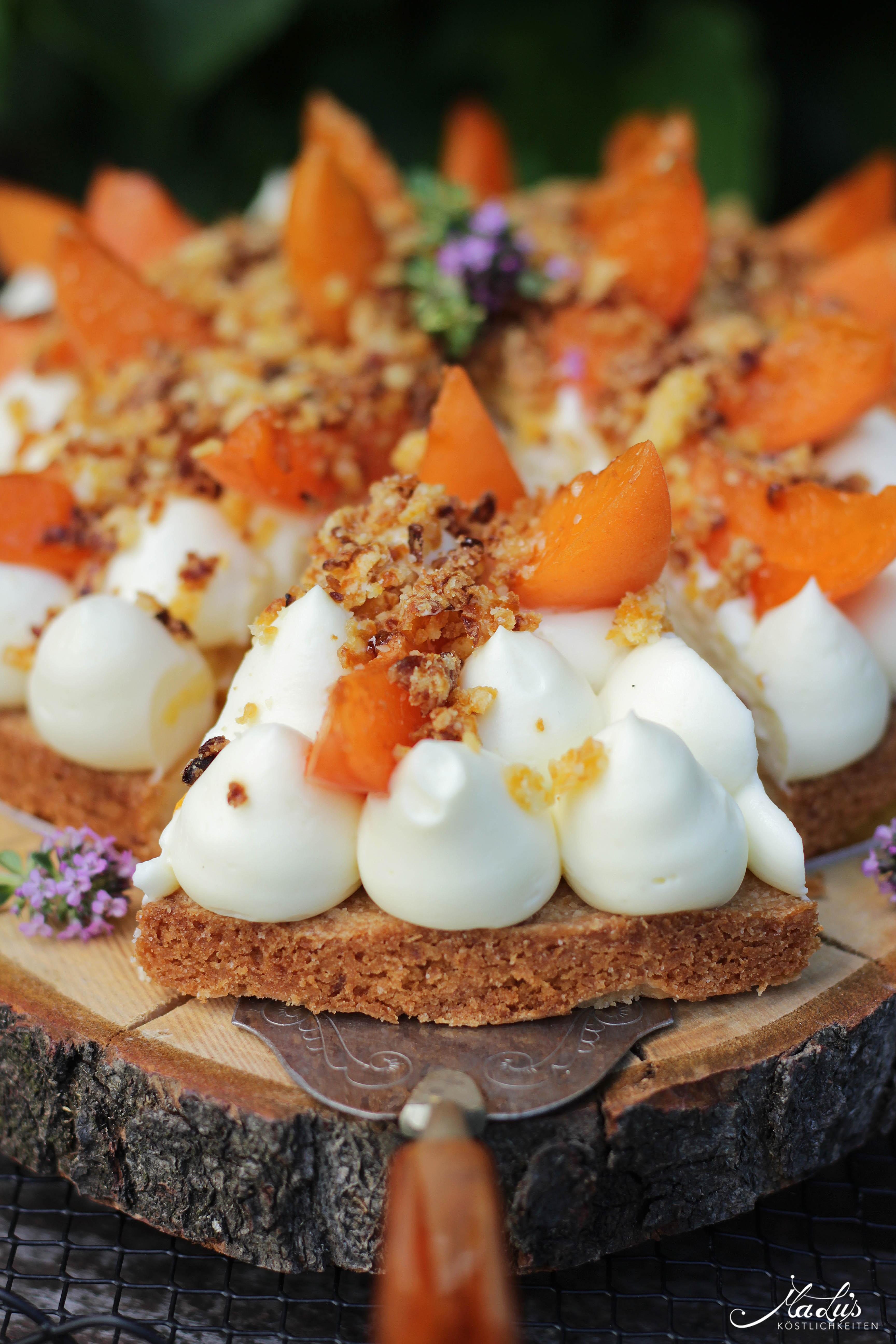 Aprikosen Knuspertarte mit Zitronenthymian 7