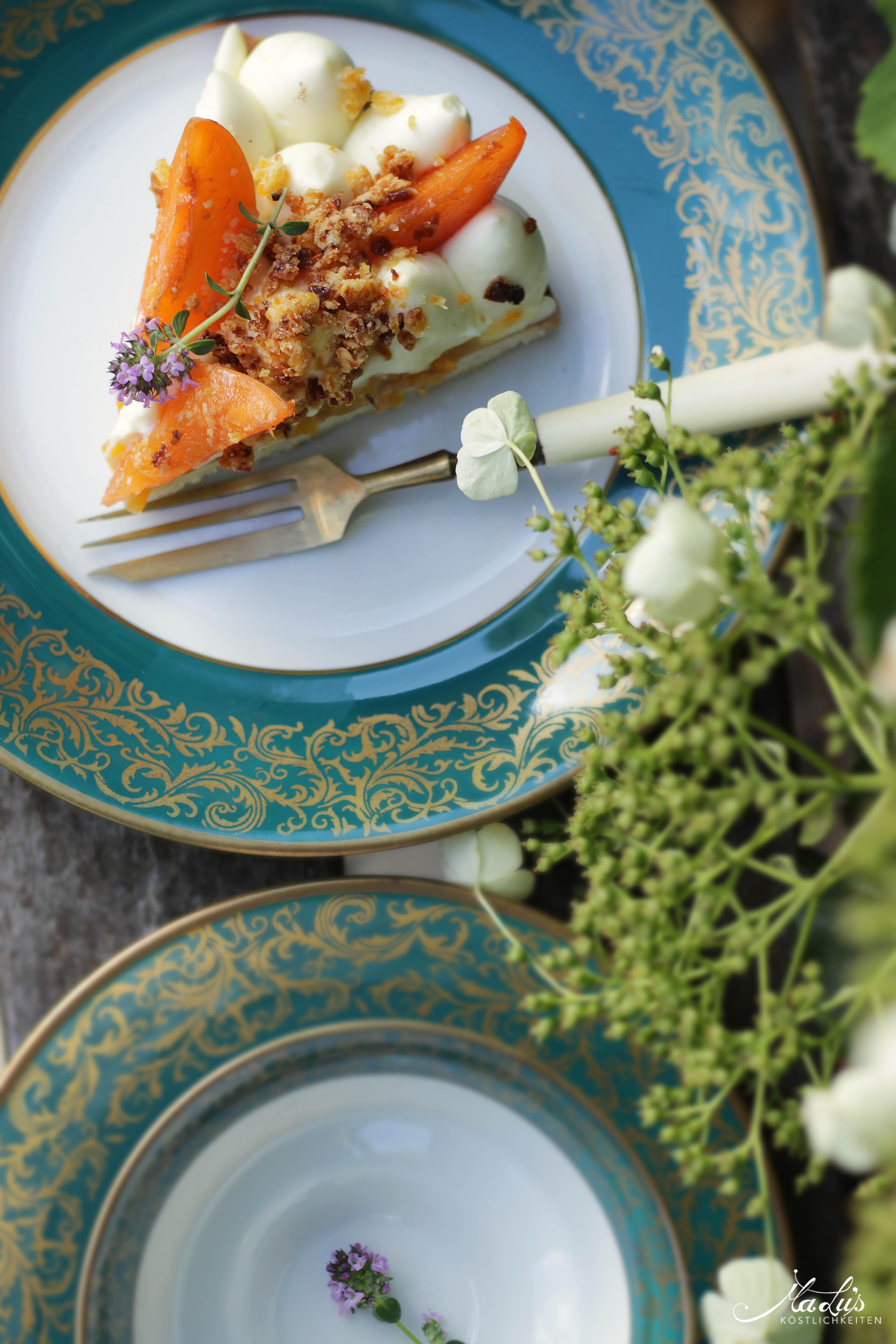 Aprikosen Knuspertarte mit Zitronenthymian 8
