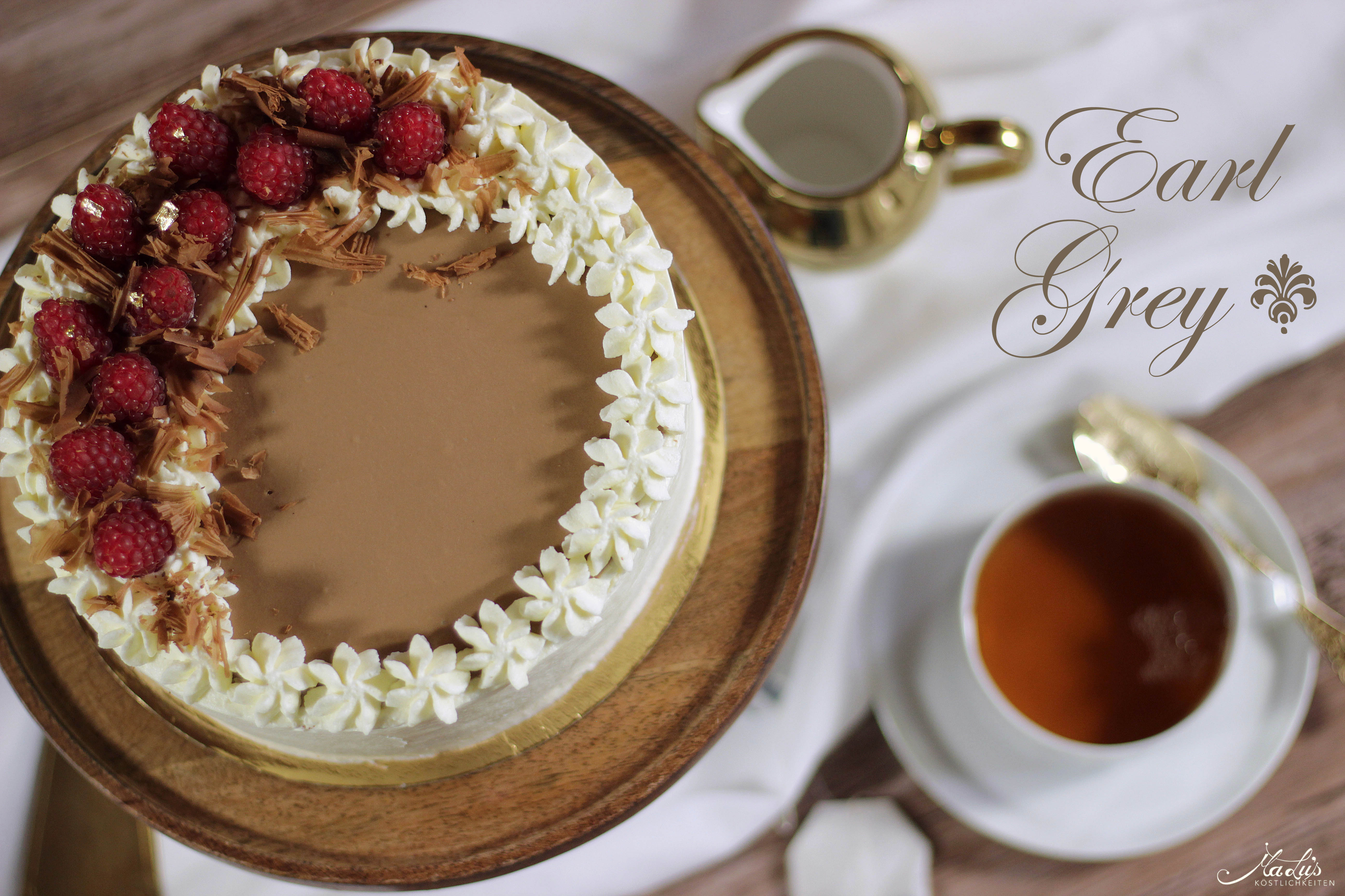 Earl Grey Schokoladentorte mit Himbeeren
