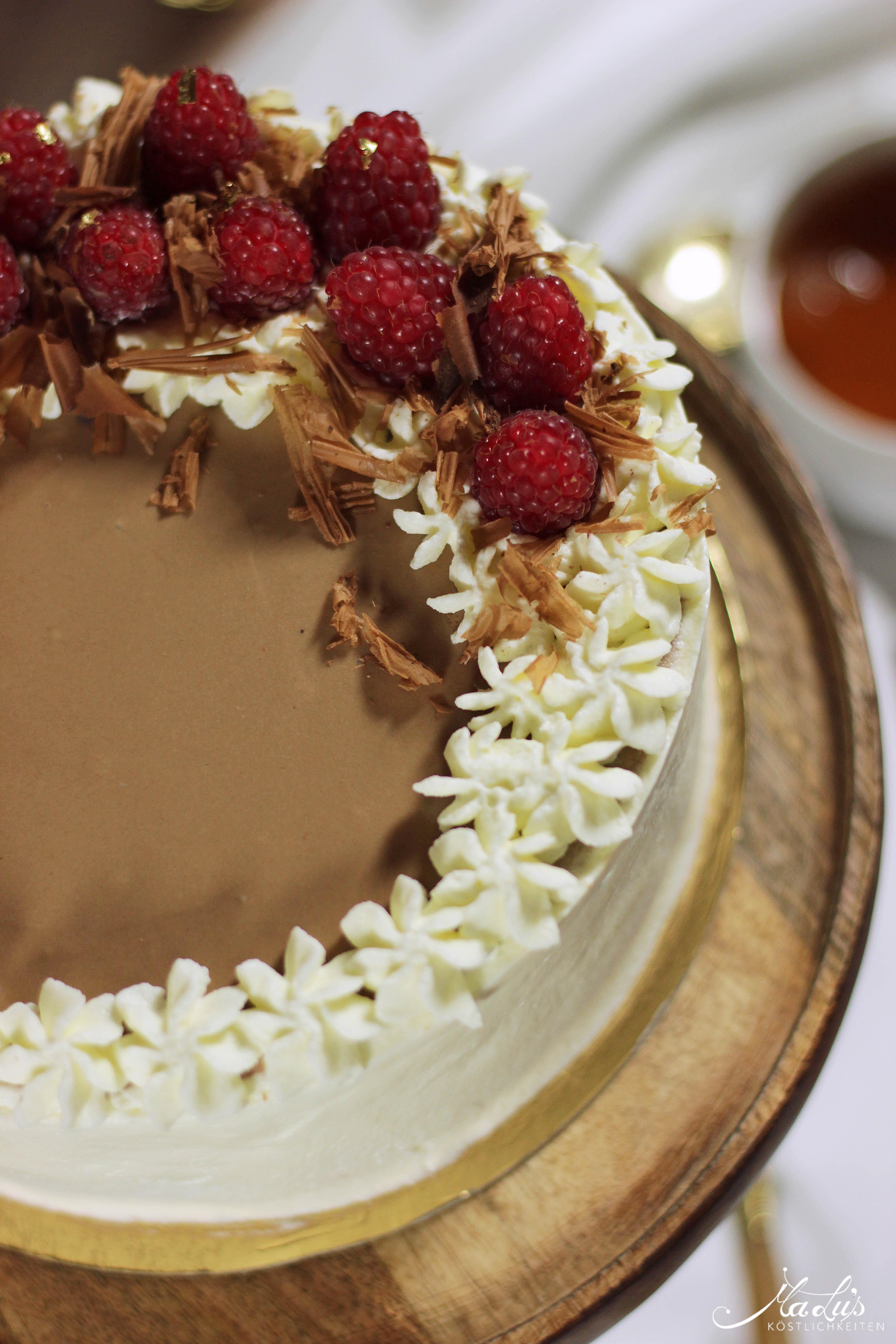 Earl Grey Schokoladentorte mit Himbeeren 12