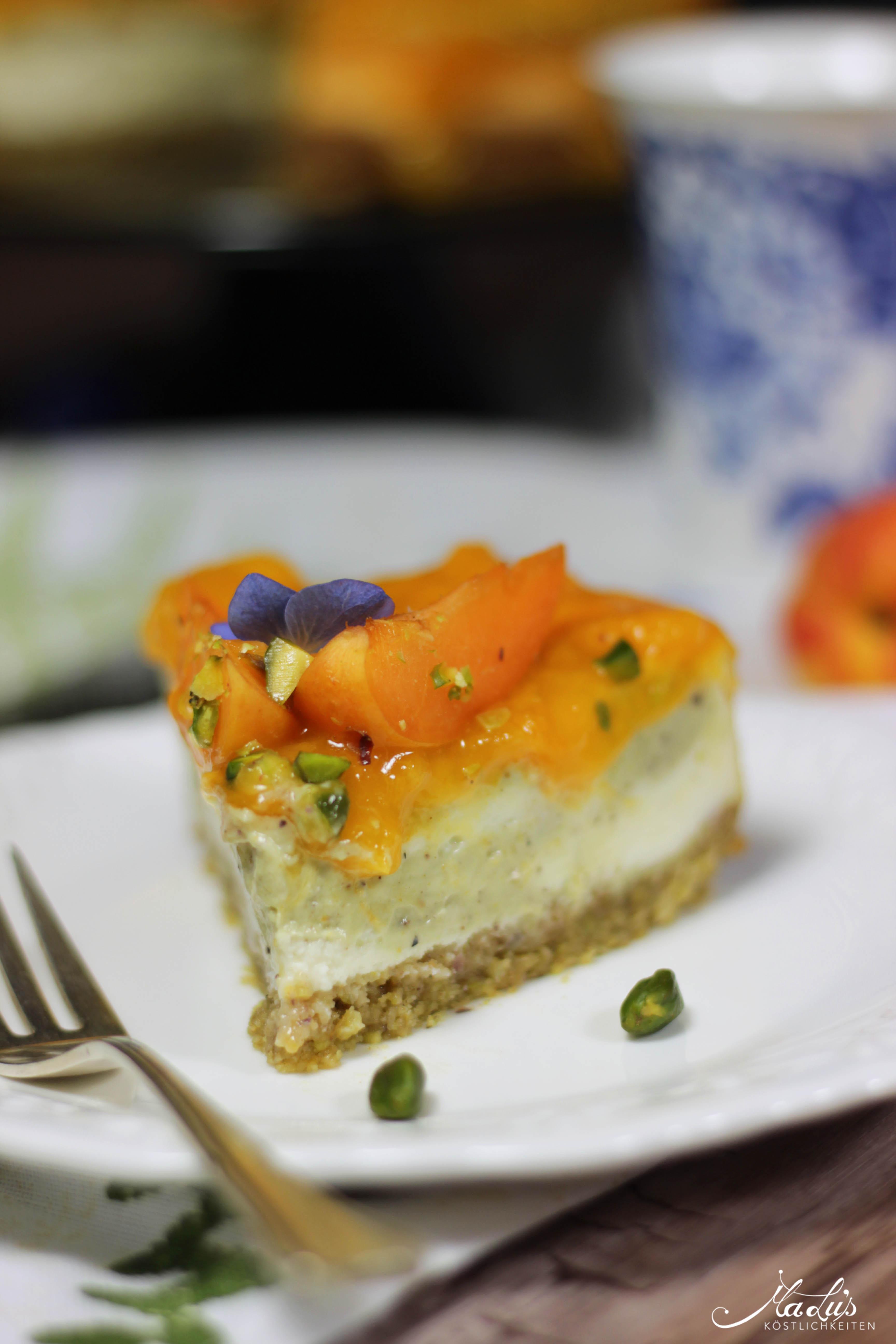 Pistaziencheesecake mit Aprikosen 2