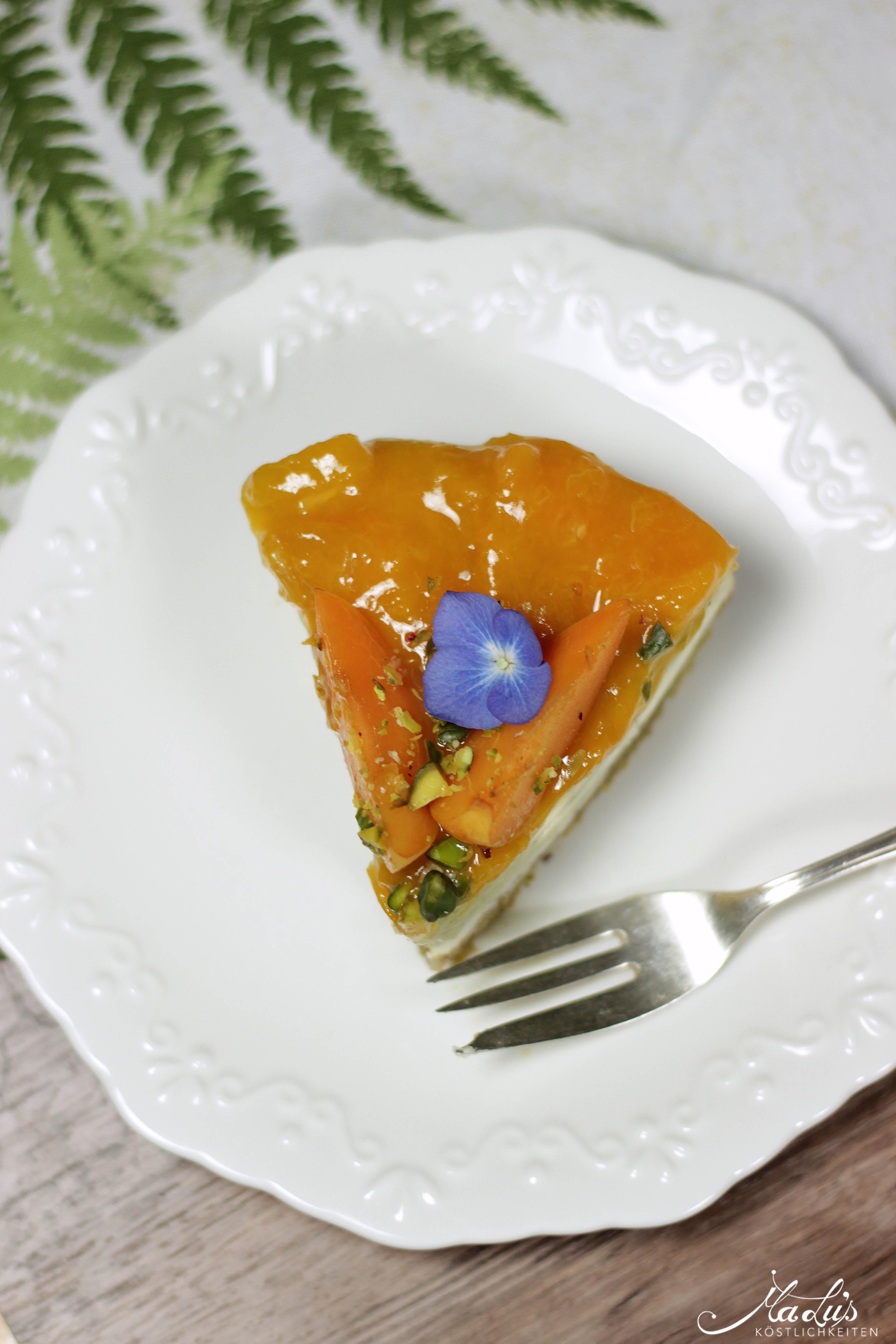 Pistaziencheesecake mit Aprikosen 3
