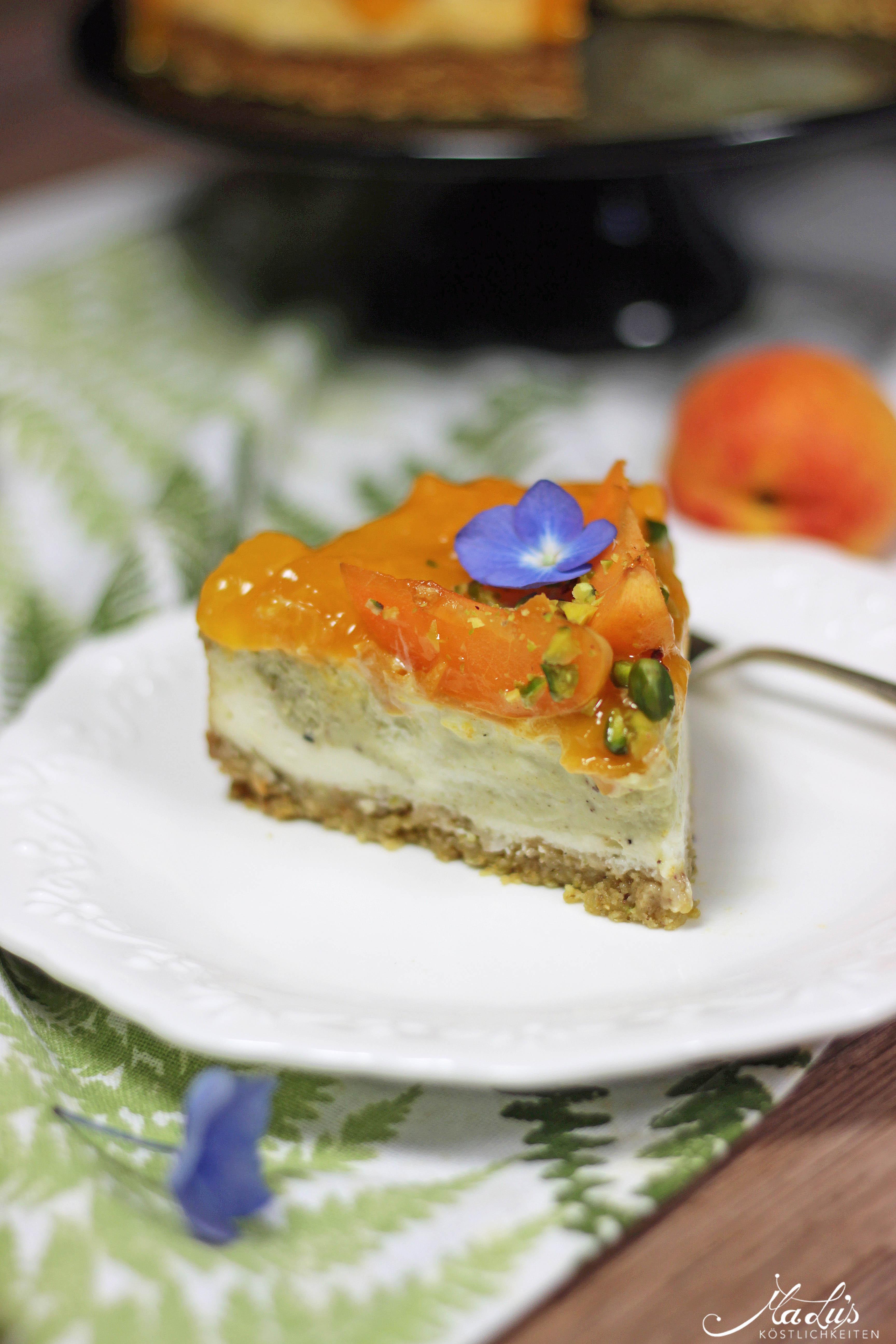 Pistaziencheesecake mit Aprikosen 4