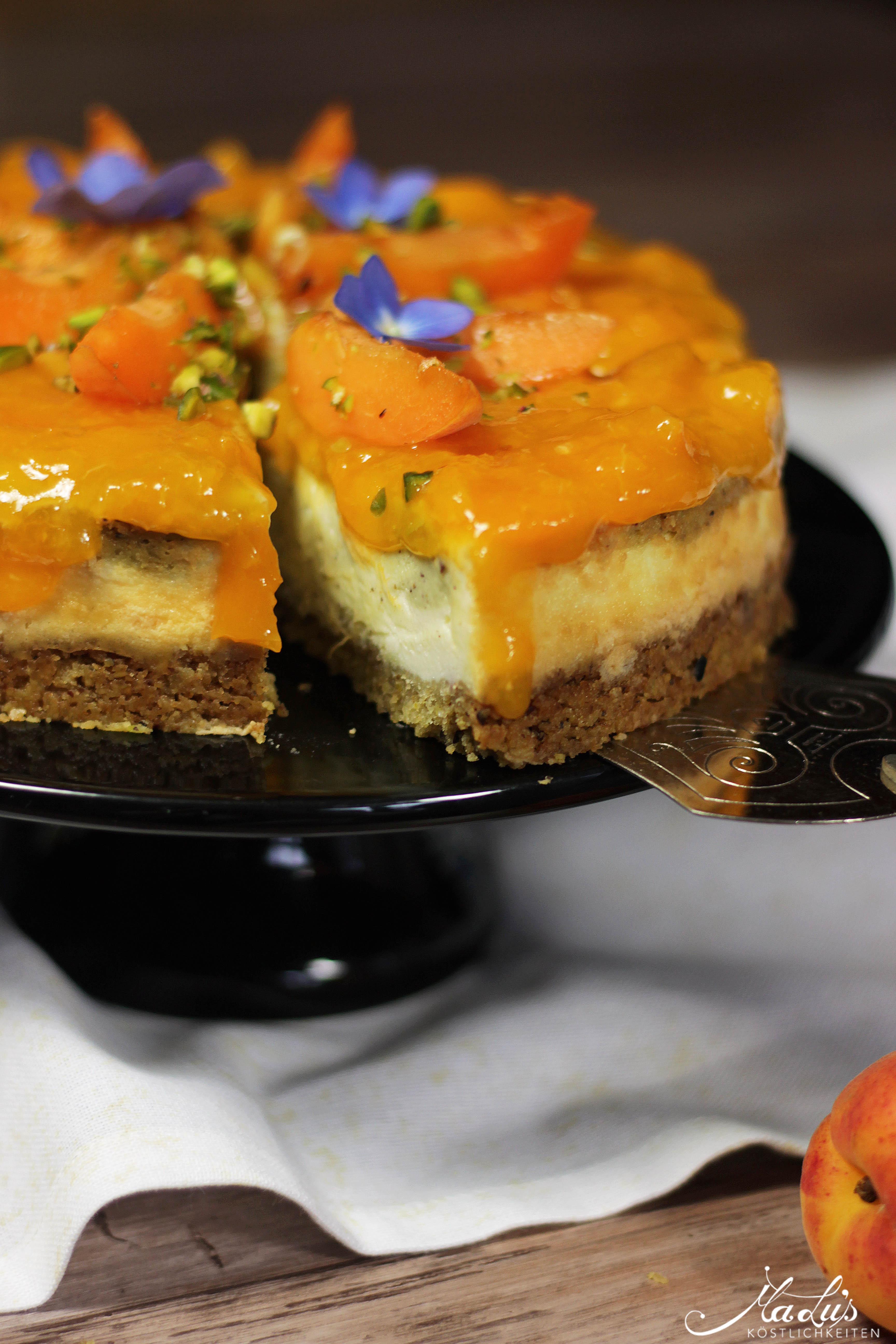 Pistaziencheesecake mit Aprikosen 6