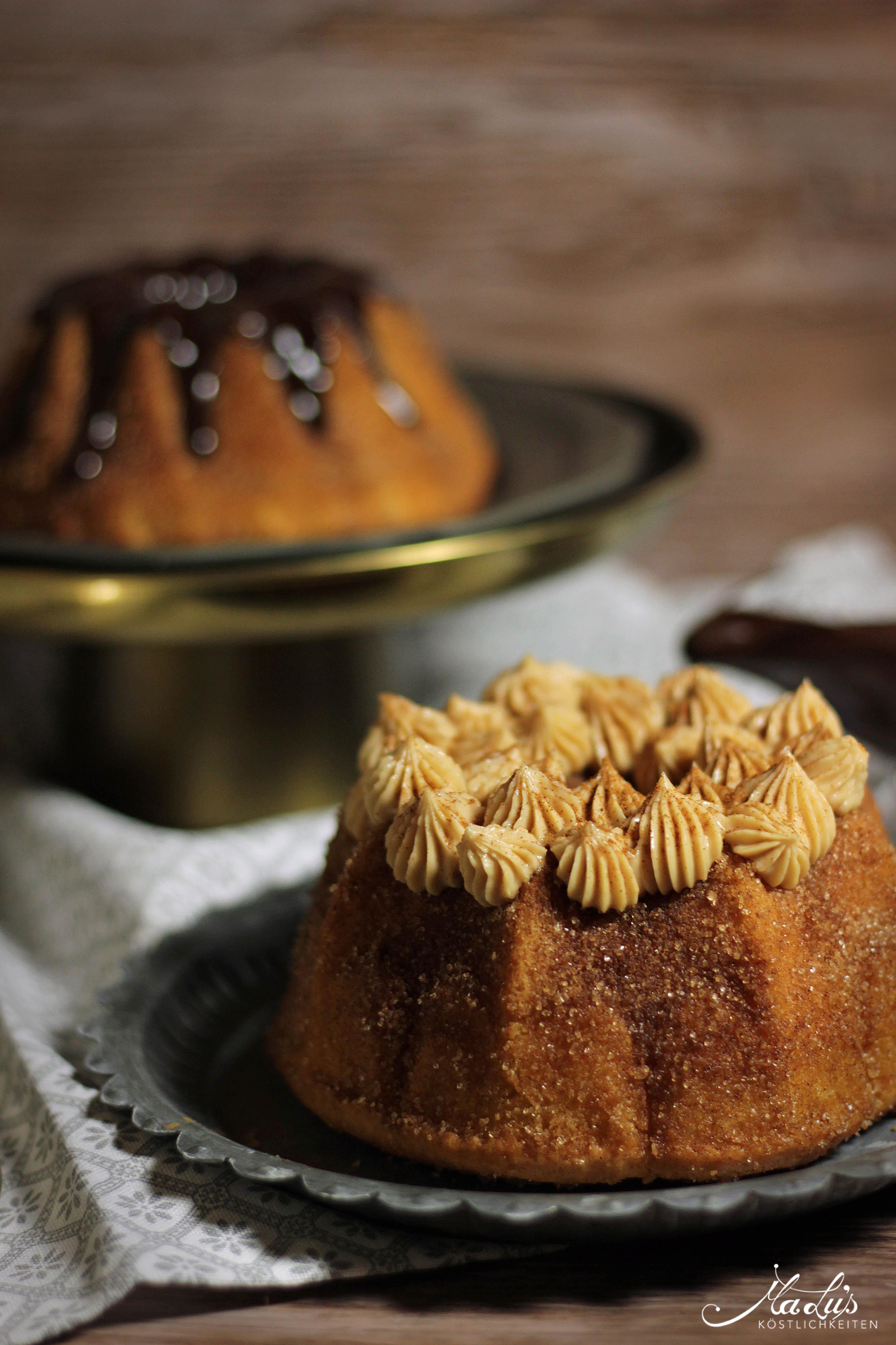 Buttrige Zimt-Zucker Guglhupfe | Churro cakes