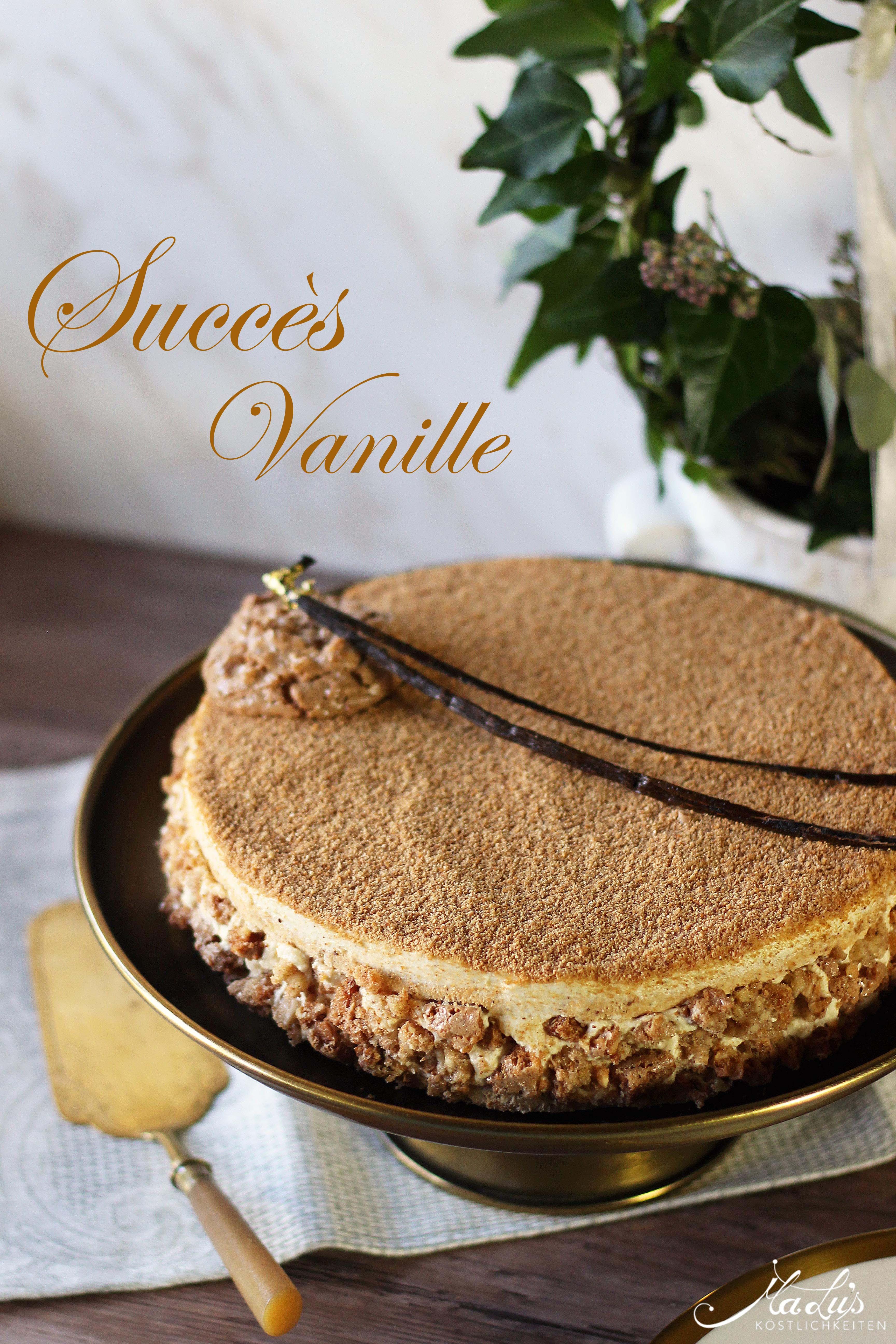 Vanille Mandelbaisertorte - Succès vanille