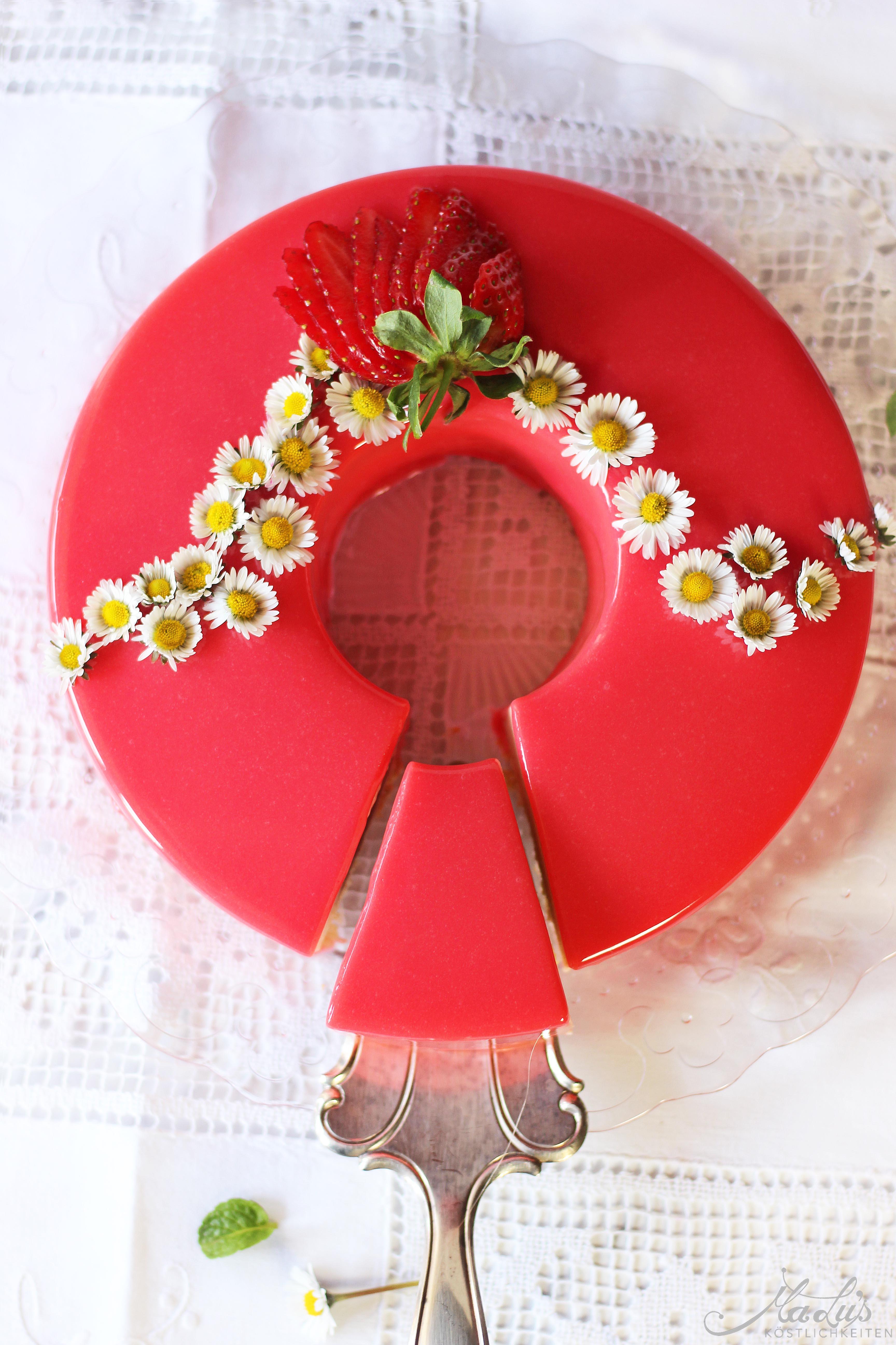 Erdbeer-Rhabarber Torte