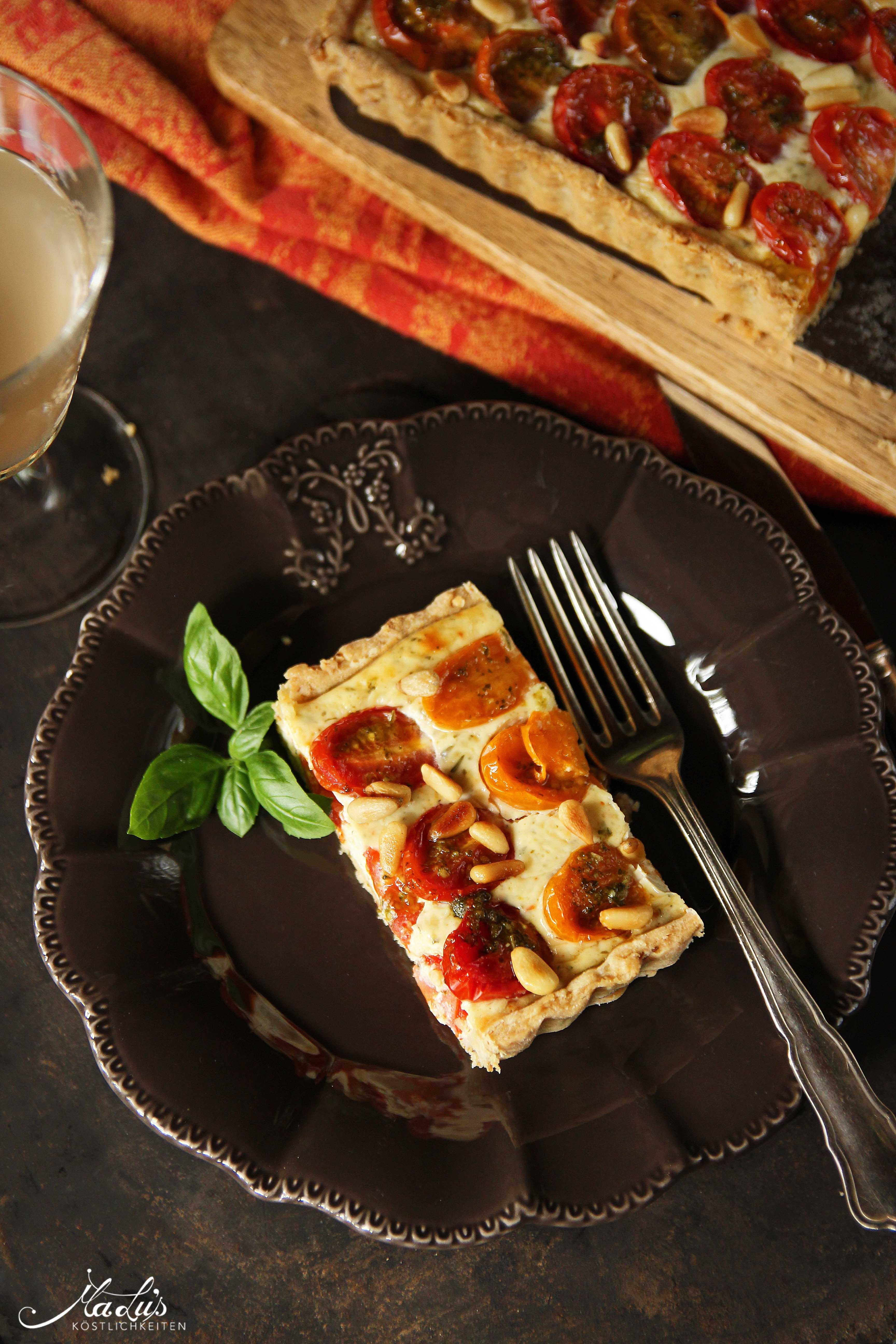 Tomaten Cheesecake Tarte