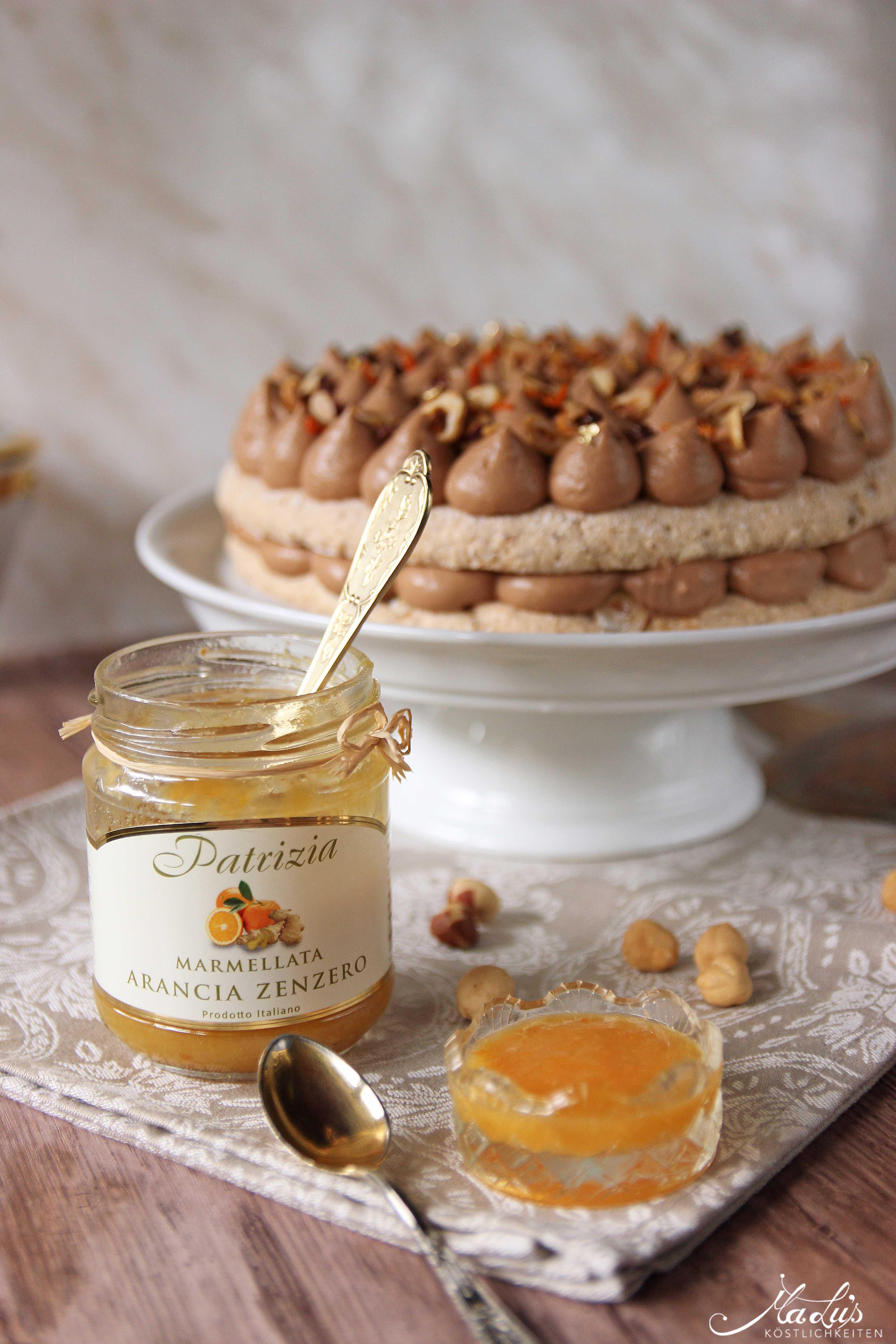 Nuss-Nougat Torte mit Orange