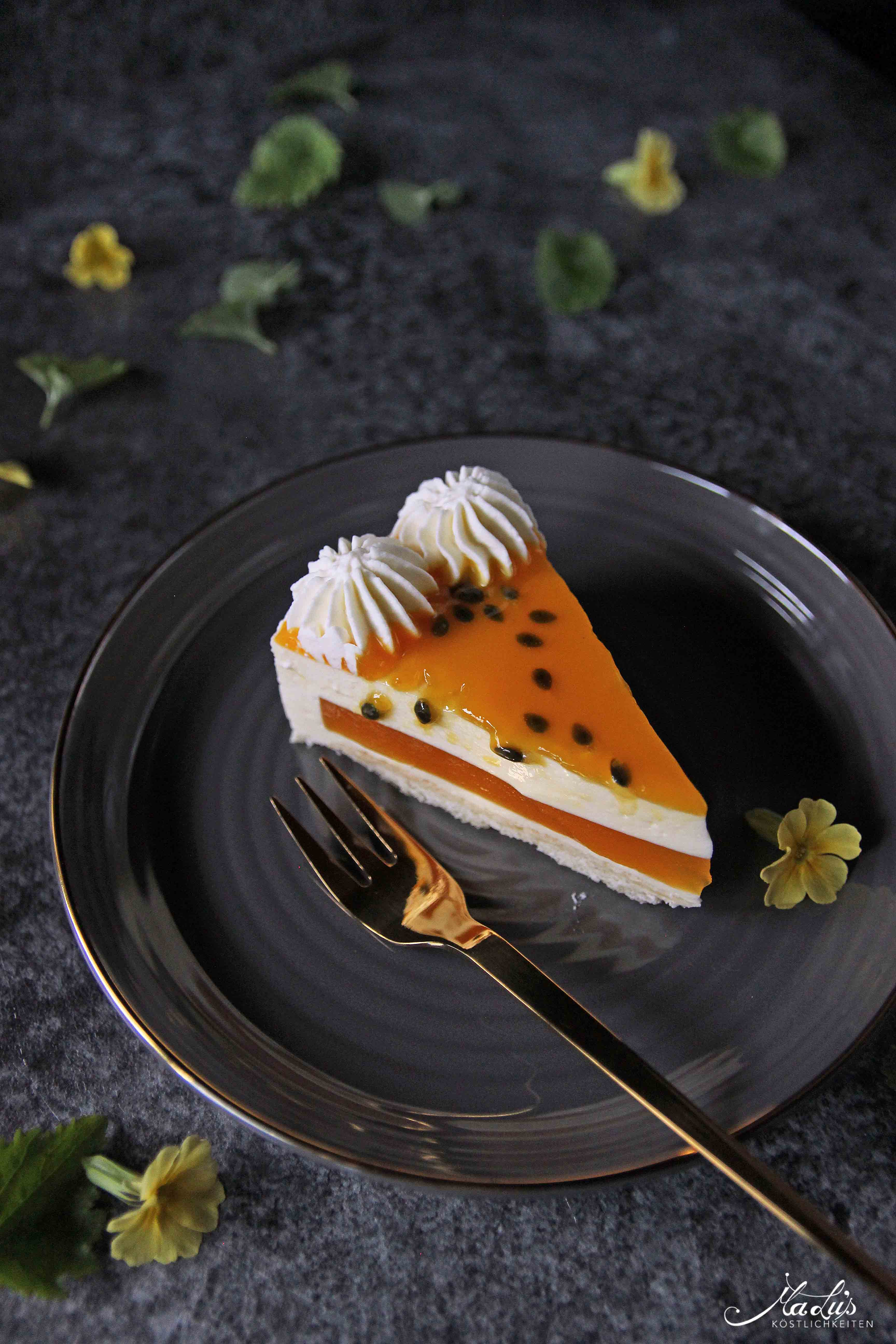 Fruchtig leichter Maracuja Cheesecake | Maren Lubbe