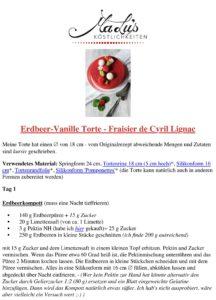 Rezeptdruck | Fraisier de Cyril Lignac