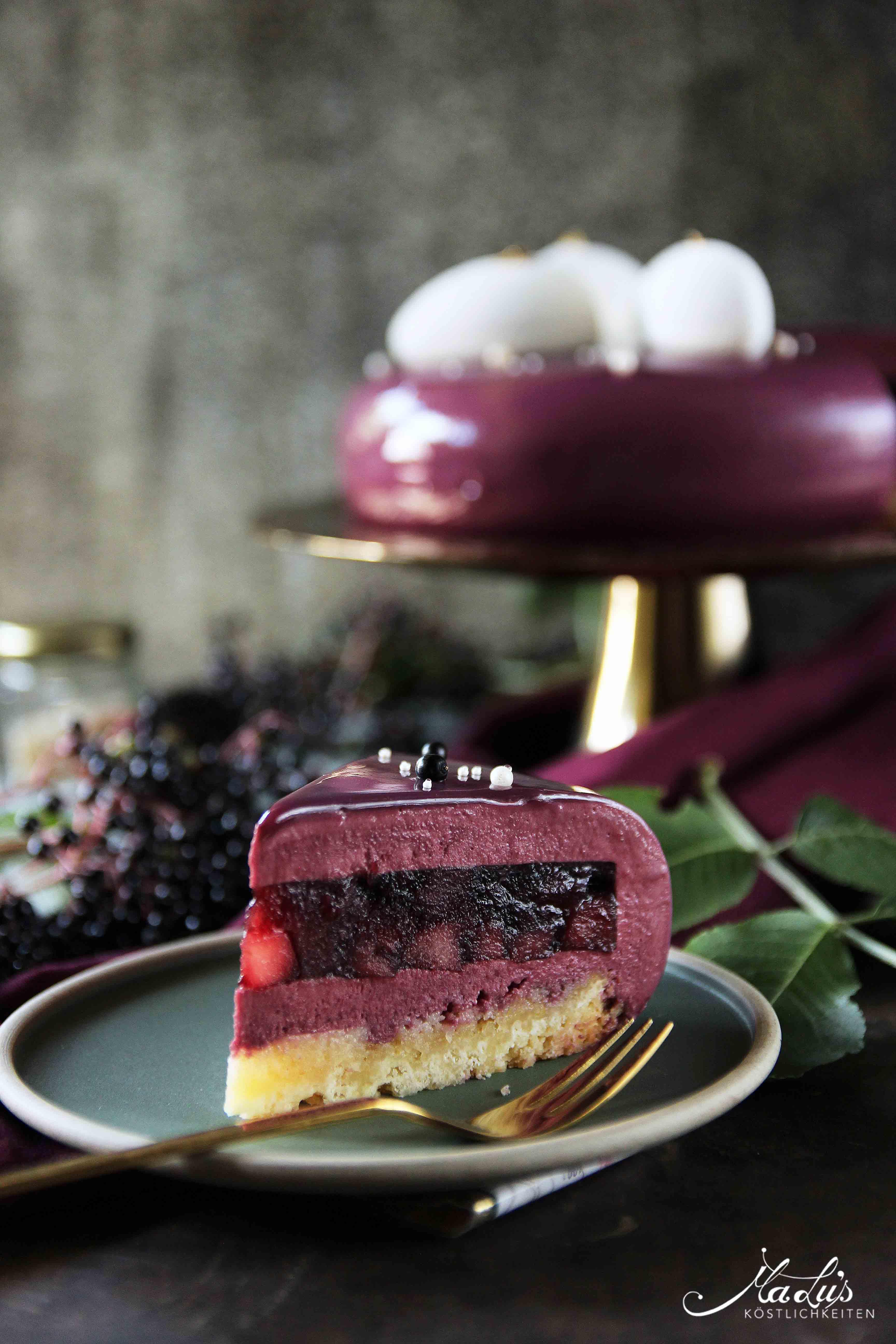 Holunderbeeren Torte - Elderberry Entremet