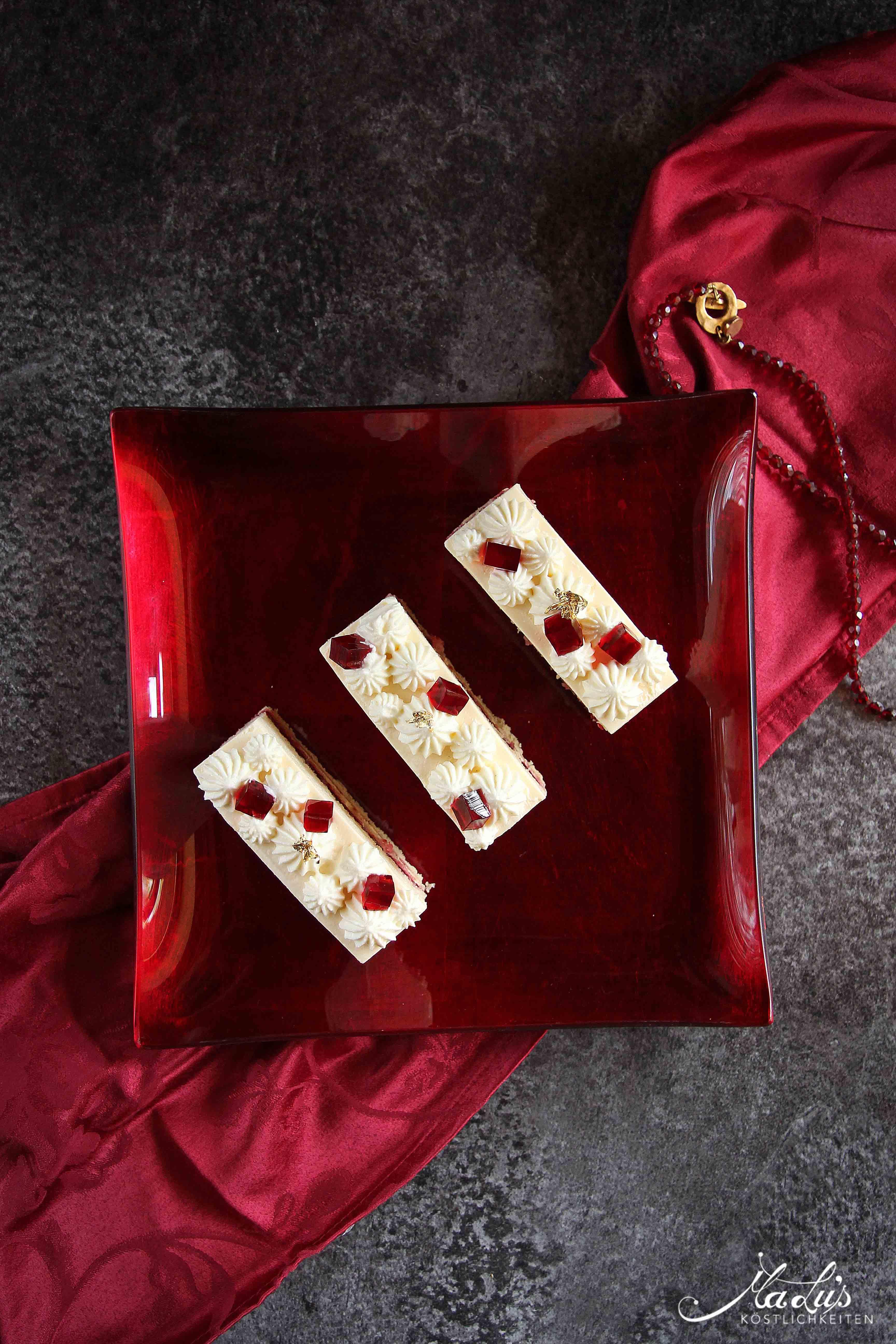 Kirsch Cheesecake Schnitten - Maren Lubbe