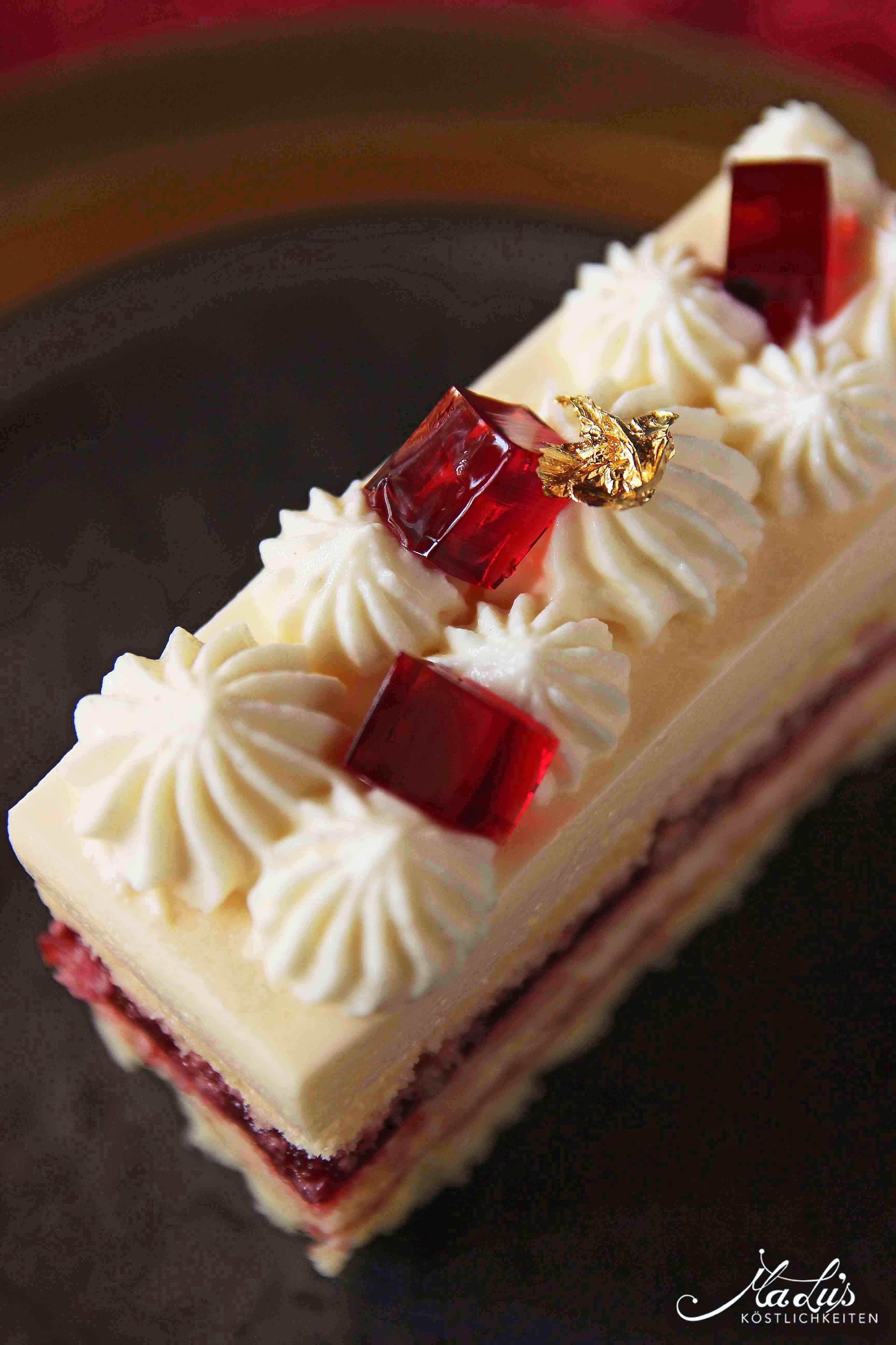 Cremige Kirsch Cheesecake Schnitten