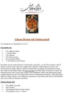 Gâteau Breton Rezeptdruck | MaLu's Köstlichkeiten