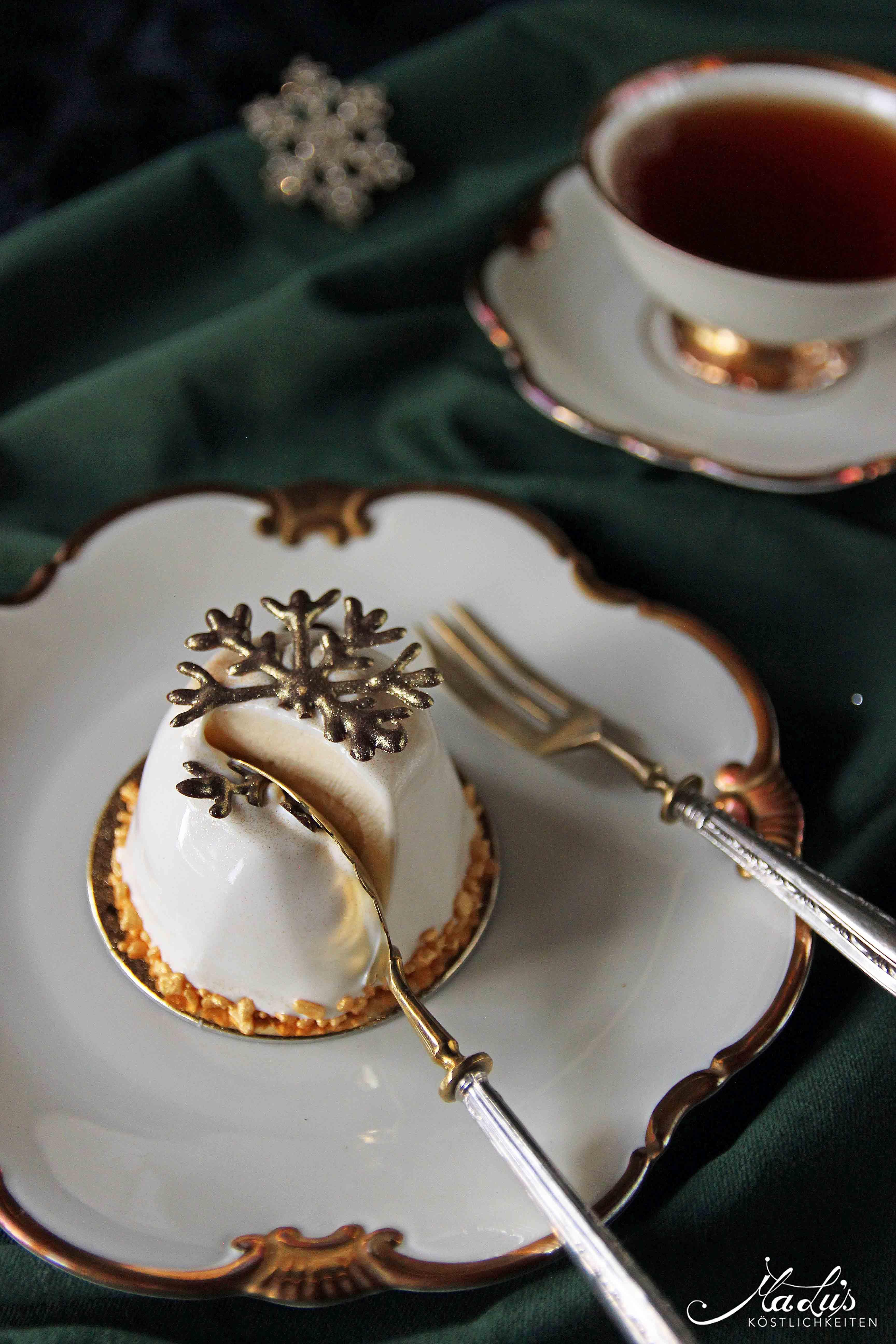 Gewürzmousse Törtchen mit Mandarine & Krokant