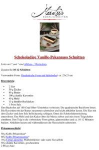 Vanille Pekannuss Schnitten Rezept