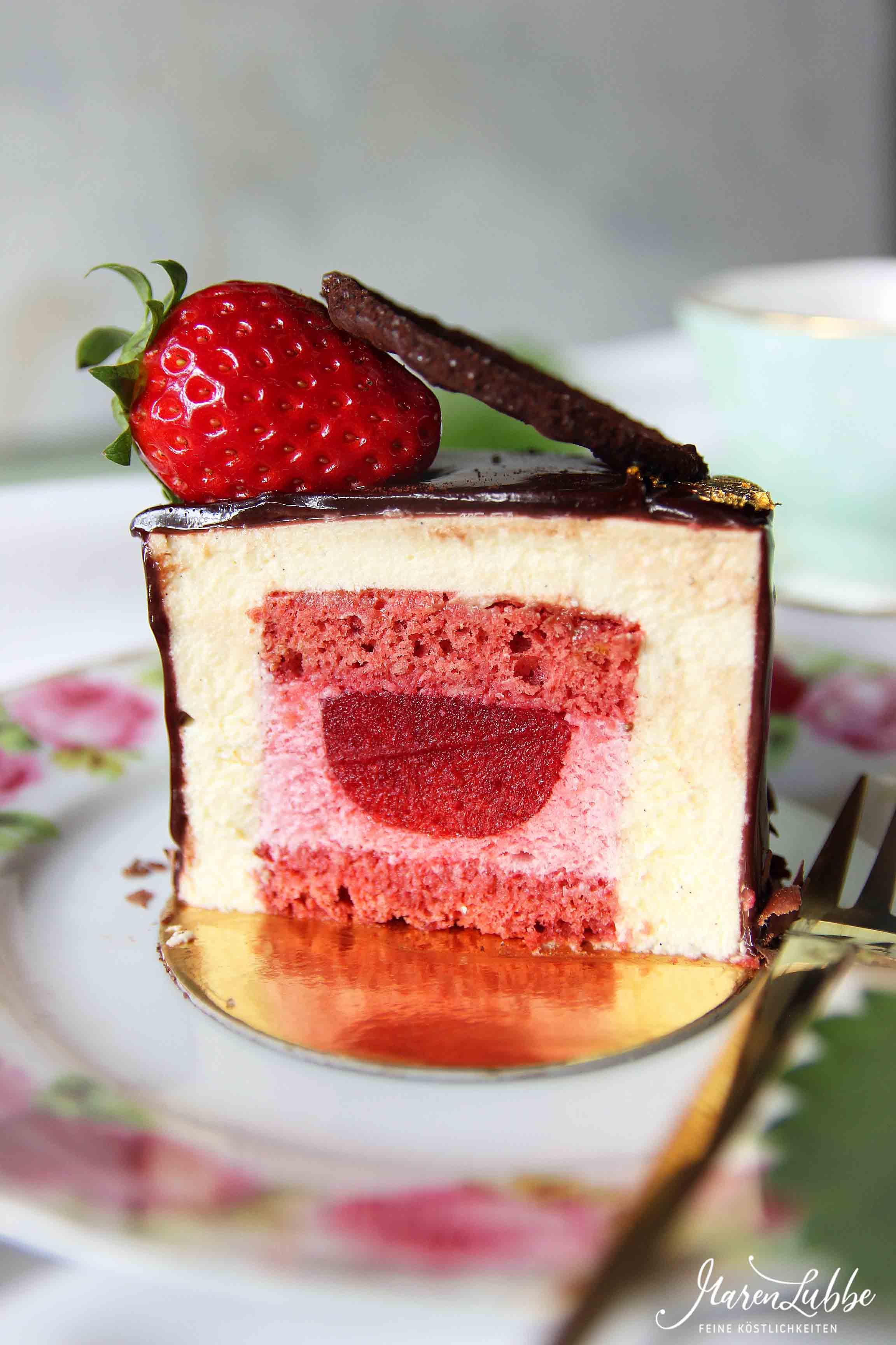 Fürst Pückler Törtchen - Schokolade - Vanille - Erdbeere