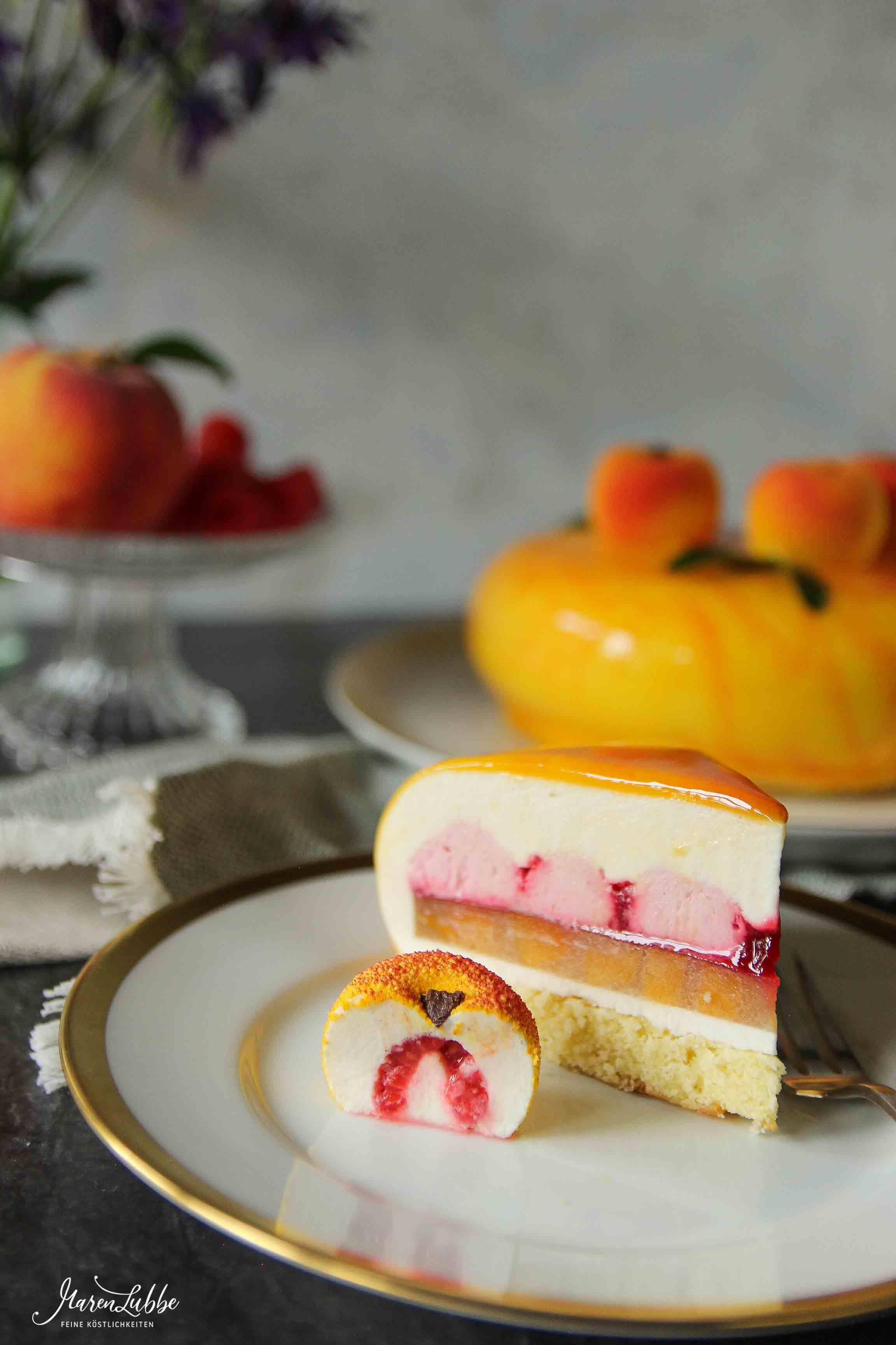 """""""Bellini"""" - Pfirsich-Himbeer Torte"""