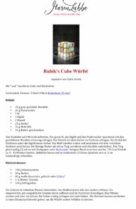 Rubik's cube Rezept