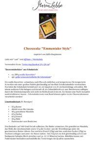 "Maren Lubbe - Cheesecake ""Emmentaler Style"" Rezept"