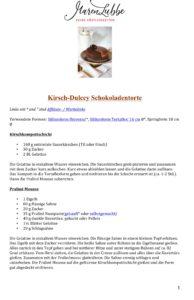 Maren Lubbe - Feine Köstlichkeiten // Kirsch-Dulcey Schokoladentorte Rezeptdruck
