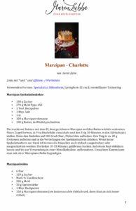 Marzipan Charlotte Rezeptdruck-Maren Lubbe