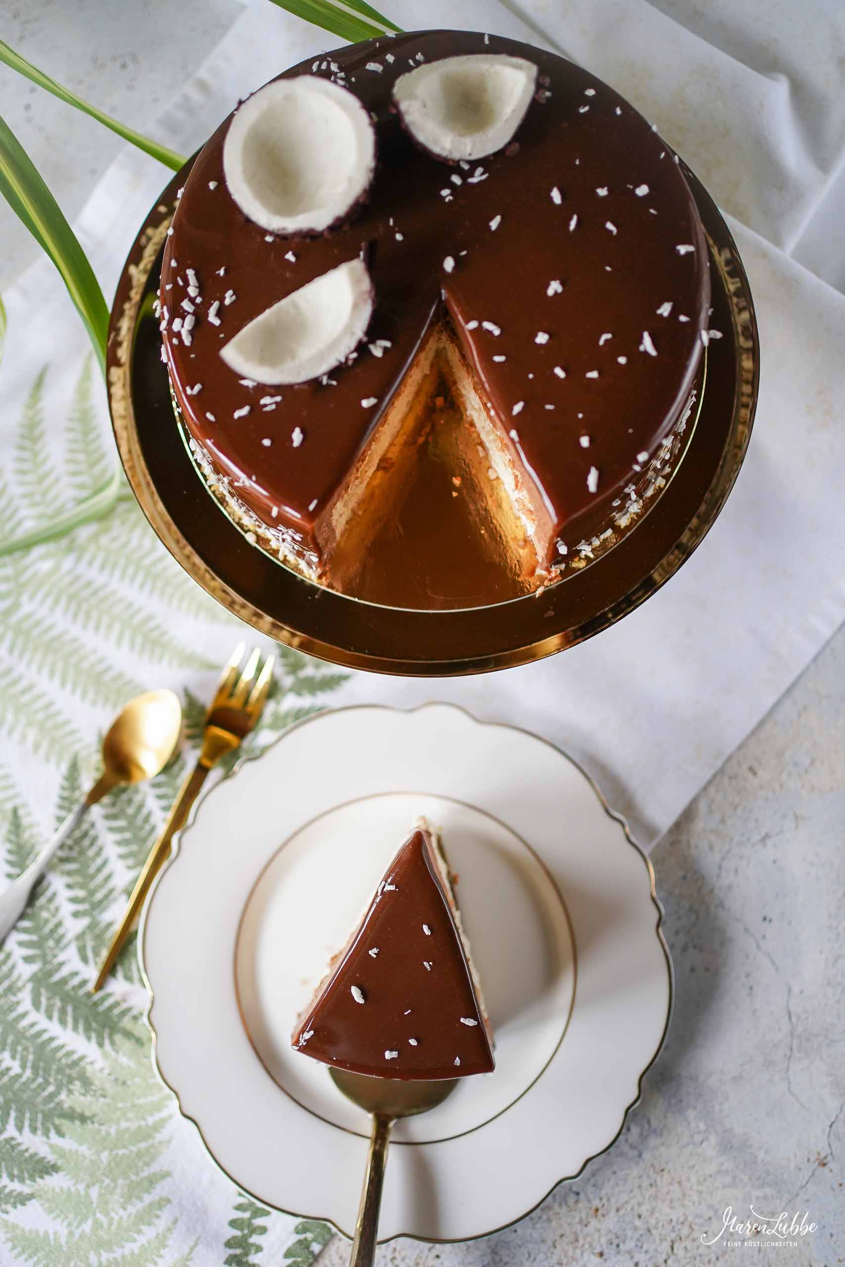 Yann Couvreurs CARAÏBES - Kokos-Schokoladen Torte