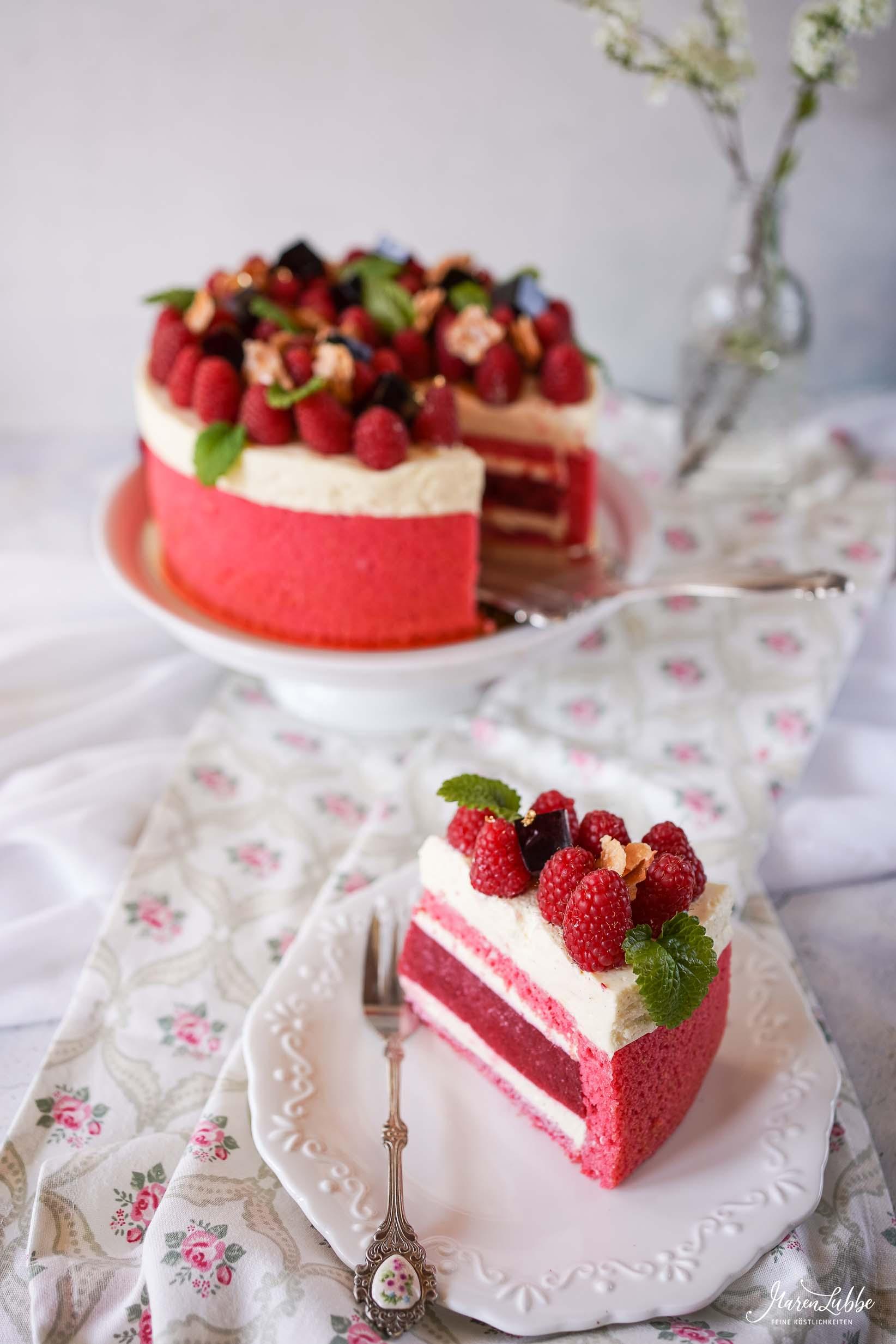 Himbeer-Vanille Torte | Maren Lubbe-Feine Köstlichkeiten