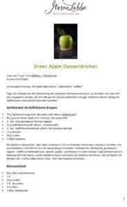 Green Apple Desserttörtchen Rezeptdruck