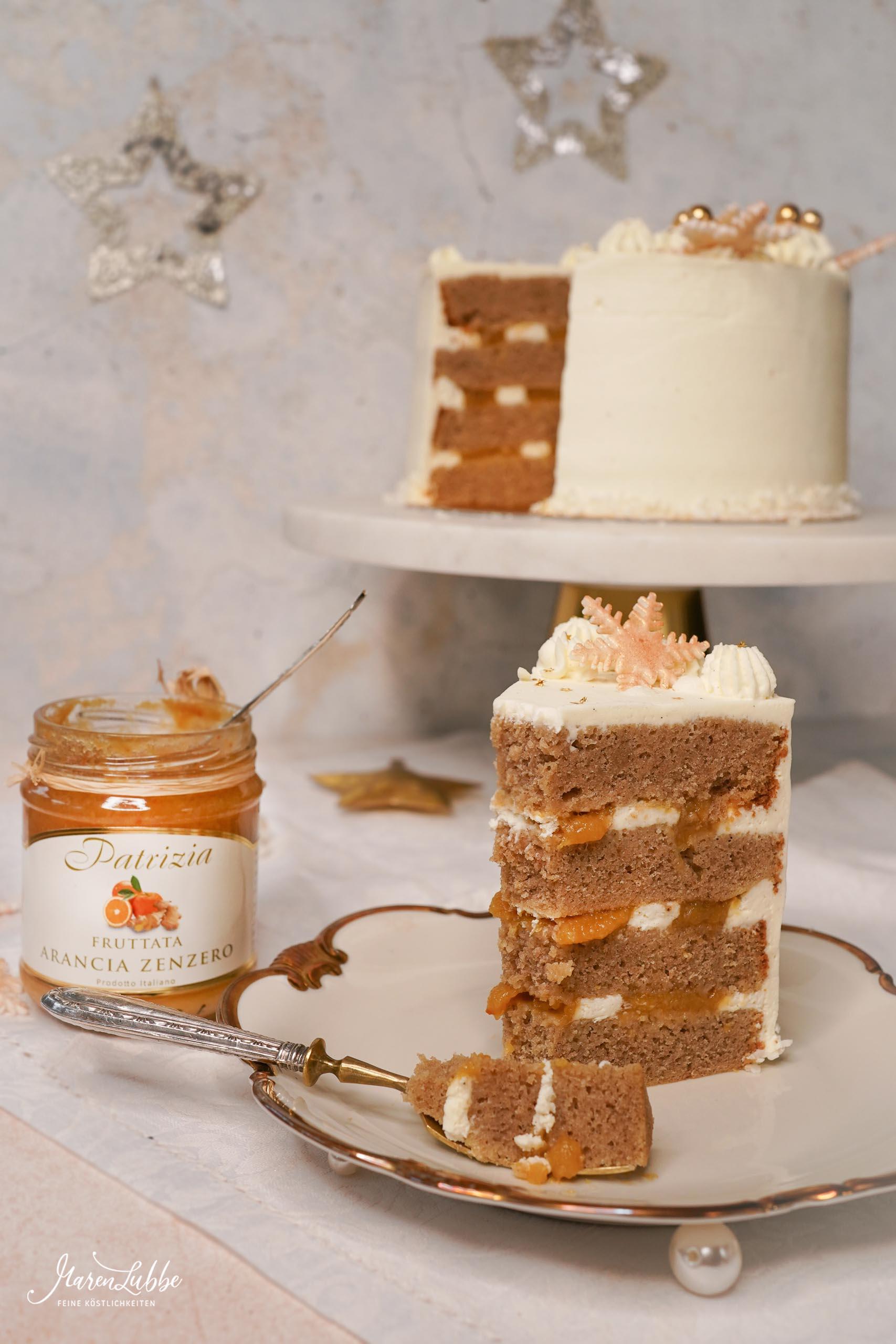 Eggnog-Orangen Torte